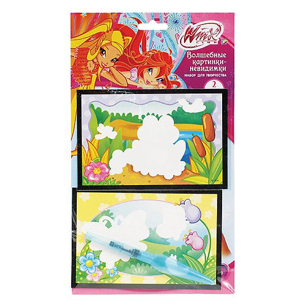 Набор Картинки-невидимки, большие, Winx ClubНаборы для раскрашивания<br>Большие картинки-невидимки от добрых волшебниц Винкс не оставят ребенка равнодушным! Достаточно лишь раскрасить картинку фломастером и она заиграет новыми яркими красками!<br>Дополнительная информация:<br>-в наборе: картинка-основа, деревянная палочка, 4 фломастера<br>Сказочный персонаж: Winx Club<br>-вес: 50 грамм<br>-размер упаковки: 17х29х1 см<br>Набор картинок-невидимок Winx Club можно купить в нашем интернет-магазине.<br><br>Ширина мм: 10<br>Глубина мм: 290<br>Высота мм: 170<br>Вес г: 50<br>Возраст от месяцев: 60<br>Возраст до месяцев: 108<br>Пол: Женский<br>Возраст: Детский<br>SKU: 4915523