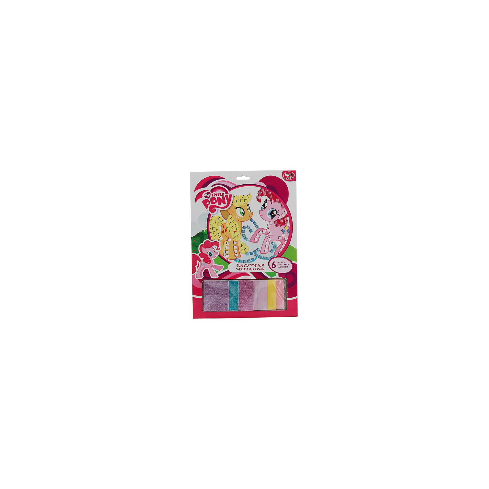 Набор Фигурная мозаика со стразами, My Little PonyМозаика<br>Набор с мозаикой позволит ребенку создать очаровательную картинку с красивыми лошадками из мультика My Little Pony. Хорошо развивает воображение, формирует усидчивость. Готовую картинку можно оставить для подарка или украсить ей квартиру.<br>Дополнительная информация:<br>-в наборе: клеящие элементы,6 листов с мозаикой, блестки<br>Сказочный персонаж: My Little Pony<br>-вес: 140 грамм<br>-размер упаковки: 24х33х2 см<br>Фигурную мозаику со стразами My Little Pony можно купить в нашем интернет-магазине.<br><br>Ширина мм: 20<br>Глубина мм: 330<br>Высота мм: 240<br>Вес г: 140<br>Возраст от месяцев: 72<br>Возраст до месяцев: 120<br>Пол: Женский<br>Возраст: Детский<br>SKU: 4915541
