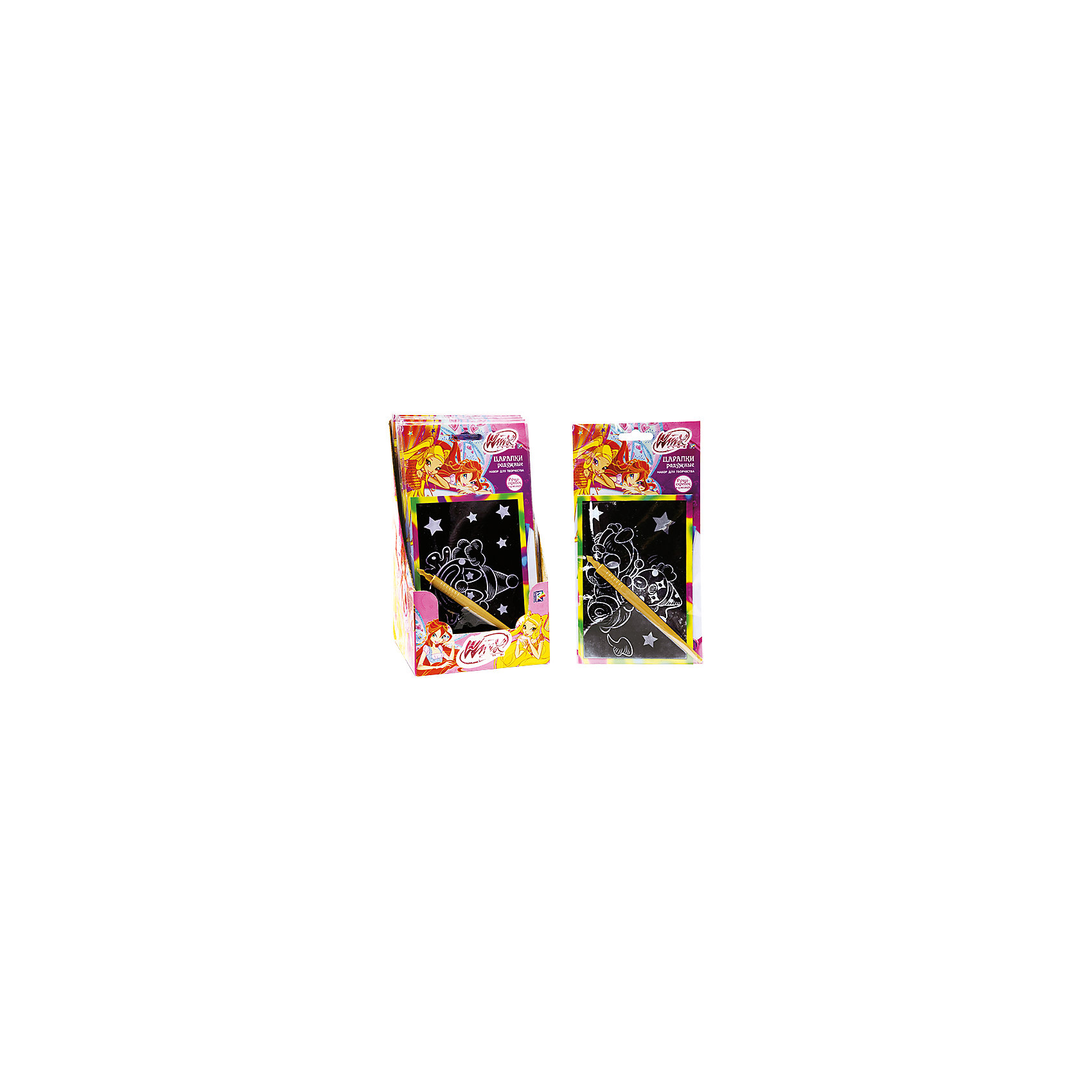 Гравюра Радужные царапки, в ассортиментеГравюры<br>Гравюра Радужные царапки и феи Винкс помогут ребенку поверить в настоящее волшебство. Ведь так просто создать красивую картинку своими руками!<br>Дополнительная информация:<br>-в наборе: гравюра<br>-вес: 40 грамм<br>-размер упаковки: 21х12х14 см<br>Гравюру Радужные царапки вы можете приобрести в нашем интернет-магазине.<br>ВНИМАНИЕ! Данный артикул имеется в наличии в разных вариантах исполнения. Заранее выбрать определенный вариант нельзя. При заказе нескольких гравюр возможно получение одинаковых.<br><br>Ширина мм: 140<br>Глубина мм: 120<br>Высота мм: 210<br>Вес г: 40<br>Возраст от месяцев: 60<br>Возраст до месяцев: 108<br>Пол: Женский<br>Возраст: Детский<br>SKU: 4915545