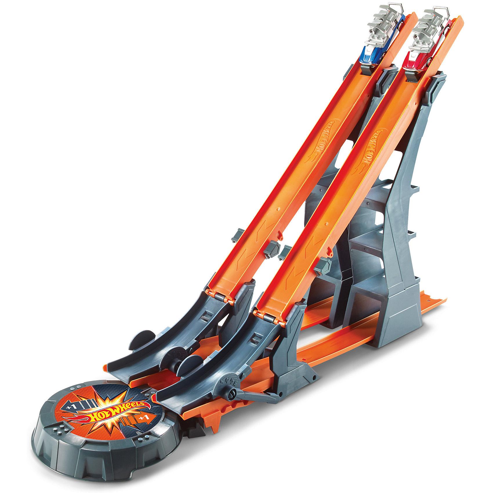 Трасса Супер гравитация, Hot WheelsТрасса Супер гравитация, Hot Wheels (Хот Вилс), Mattel (Маттел) ? самые популярные игровые транспортные треки для мальчиков от бренда Mattel. Трассы Hot Wheels обладают реалистичными деталями, множеством модификаций и совместимостью разных наборов между собой. Выполненные из качественного пластика, эти игрушки устойчивы к физическим повреждениям и изменению цвета, в них отсутствуют опасные и острые детали, что делает эту игрушку безопасной даже для маленьких детей. Производителем рекомендованы наборы для мальчиков от 3-х лет.<br>Трасса Супер гравитация, Hot Wheels, Mattel (Маттел) ? набор, в состав которого входят трасса, две эксклюзивные машинки с креплениями и подставка для планшета или смартфона для записывания разыгрываемых сюжетов. <br>Сюжетные игры с трассами Hot Wheels (Хот Вилс), Mattel (Маттел) формируют конструкторские навыки, тренируют память и развивают логическое мышление и воображение. А также эта игрушка способствует эмоциональному развитию ребенка.<br><br>Дополнительная информация:<br><br>- Вид игр: сюжетно-ролевые <br>- Предназначение: для дома<br>- Материал: пластик<br>- Комплектация: элементы для трассы с изгибами, подставка для планшета, 2 машинки с креплениями<br>- Размер (Д*Ш*В): 8,5*56*25,5 см<br>- Вес: 1 кг 519 г <br>- Особенности ухода: можно протирать влажной губкой<br><br>Подробнее:<br><br>• Для детей в возрасте: от 4 лет и до 10 лет<br>• Страна производитель: Китай<br>• Торговый бренд: Mattel<br><br>Трассу Супер гравитация, Hot Wheels (Хот Вилс), Mattel (Маттел) можно купить в нашем интернет-магазине.<br><br>Ширина мм: 85<br>Глубина мм: 560<br>Высота мм: 255<br>Вес г: 1519<br>Возраст от месяцев: 48<br>Возраст до месяцев: 120<br>Пол: Мужской<br>Возраст: Детский<br>SKU: 4915807