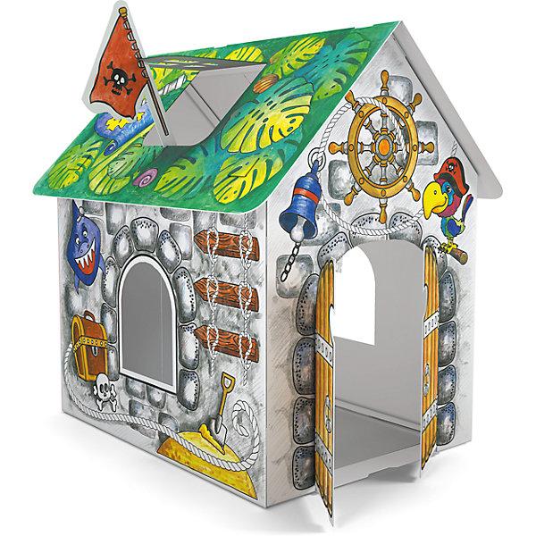 Домик для раскрашивания ПиратскийНаборы для раскрашивания<br>Играть в пиратов обожает множество мальчишек. Порадовать ребенка можно новым игровым набором от известного производителя - пиратским домиком из прочного картона, который мальчик сможет не только сам раскрасить, по и самостоятельно собрать, далее придумывая множество игр с этим вместительным жилищем пиратов.<br>Такая игрушка поможет развить не только творческие способности ребенка, но и мелкую моторику, художественный вкус, логику, внимательность и умение нестандартно мыслить.<br><br><br>Дополнительная информация:<br><br>состав: бумага, картон;<br>размер: 93 х 62 х 84 см;<br>возраст: от трех лет.<br><br>Домик для раскрашивания Пиратский (для мальчиков) от компании ErichKrause можно купить в нашем магазине.<br>Ширина мм: 300; Глубина мм: 150; Высота мм: 400; Вес г: 510; Цвет: зеленый; Возраст от месяцев: 36; Возраст до месяцев: 180; Пол: Мужской; Возраст: Детский; SKU: 4915816;