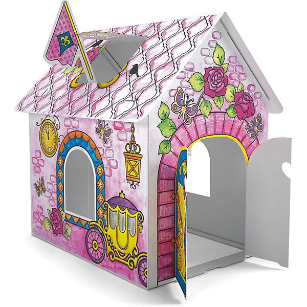 Домик для раскрашивания Замок принцессыНаборы для раскрашивания<br>Играть в принцесс обожает множество девчонок. Порадовать ребенка можно новым игровым набором от известного производителя - домиком для принцессы из прочного картона, который девочка сможет не только сама раскрасить, по и самостоятельно собрать, далее придумывая множество игр с этим вместительным жилищем принцессы. <br>Такая игрушка поможет развить не только творческие способности ребенка, но и мелкую моторику, художественный вкус, логику, внимательность и умение нестандартно мыслить.<br><br>Дополнительная информация:<br><br>Состав: детали для сборки (картон) + 6 цветных мелков в подарок;<br>Размер домика: 93х62х84 см;<br>Размер упаковки: 25х32х32 см.<br>Возраст: от трех лет.<br><br>Домик для раскрашивания Замок принцессы (для девочек) от компании ErichKrause можно купить в нашем магазине.<br><br>Ширина мм: 300<br>Глубина мм: 150<br>Высота мм: 400<br>Вес г: 510<br>Цвет: розовый<br>Возраст от месяцев: 36<br>Возраст до месяцев: 180<br>Пол: Женский<br>Возраст: Детский<br>SKU: 4915817
