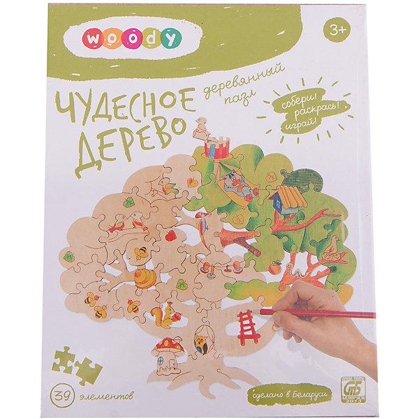 Набор Чудесное деревоДеревянные конструкторы<br>Ребенок постоянно чему-то учится, сделать процесс познавания мира для малышей - просто! Интересная обучающая игрушка Чудесное дерево - это деревянный пазл в виде дерева, он поможет ребенку научиться сопоставлять детали.<br>Этот пазл обязательно займет ребенка! Игра с ним помогает детям развивать мелкую моторику и познавать мир, также его можно раскрасить по своему усмотрению. Обучающая игрушка сделана из качественных и безопасных для ребенка материалов - натурального дерева.<br><br>Дополнительная информация:<br><br>цвет: дерево;<br>размер: 39 х 37 см;<br>вес: 236 г;<br>элементов: 39;<br>материал: дерево.<br><br>Набор Чудесное дерево можно купить в нашем магазине.<br><br>Ширина мм: 210<br>Глубина мм: 45<br>Высота мм: 165<br>Вес г: 236<br>Возраст от месяцев: 36<br>Возраст до месяцев: 2147483647<br>Пол: Унисекс<br>Возраст: Детский<br>SKU: 4916349