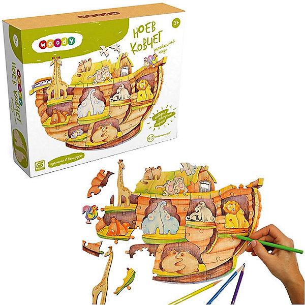 Набор Ноев ковчегДеревянные конструкторы<br>Деревянные игрушки - это не только красиво, это еще и экологично, интересно и увлекательно! Ребенок постоянно чему-то учится, сделать процесс познавания мира для малышей - просто! Интересная развивающая игрушка Ноев ковчег - это деревянный пазл по известному библейскому сюжету, он поможет ребенку научиться сопоставлять детали. <br>Этот объемный пазл обязательно займет ребенка! Игра с ним помогает детям развивать мелкую моторику и познавать мир, также его можно раскрасить по своему усмотрению. Обучающая игрушка сделана из качественных и безопасных для ребенка материалов - натурального дерева.<br><br>Дополнительная информация:<br><br>цвет: дерево;<br>размер: 30 х 42 см;<br>вес: 350 г;<br>элементов: 50;<br>материал: дерево.<br><br>Набор Ноев ковчег можно купить в нашем магазине.<br>Ширина мм: 280; Глубина мм: 65; Высота мм: 245; Вес г: 365; Возраст от месяцев: 36; Возраст до месяцев: 2147483647; Пол: Унисекс; Возраст: Детский; SKU: 4916363;