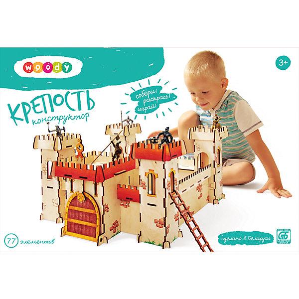 Конструктор КрепостьДеревянные конструкторы<br>Ребенок постоянно чему-то учится, сделать процесс познавания мира для малышей - просто! Интересная развивающая игрушка Крепость - это деревянный конструктор в виде большой крепости, он поможет ребенку научиться сопоставлять детали. <br>Этот конструктор обязательно займет ребенка! Игра с ним помогает детям развивать мелкую моторику и познавать мир, также его можно раскрасить по своему усмотрению. Обучающая игрушка сделана из качественных и безопасных для ребенка материалов - натурального дерева.<br><br>Дополнительная информация:<br><br>цвет: дерево;<br>размер: 44,5 х 52 х 25 см;<br>вес: 1500 г;<br>элементов: 63;<br>материал: дерево.<br><br>Конструктор Крепость можно купить в нашем магазине.<br>Ширина мм: 335; Глубина мм: 70; Высота мм: 230; Вес г: 1404; Возраст от месяцев: 36; Возраст до месяцев: 2147483647; Пол: Унисекс; Возраст: Детский; SKU: 4916367;