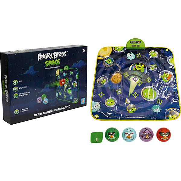 Музыкальный коврик-игра дартс, 4 мячика, Angry BirdsТанцевальные коврики<br>Все дети обожают дартс! Сделать попадание в цель занятие веселее помогут герои игры Angry Birds. Яркий музыкальный коврик с их изображением и мячики позволяют играть на различных уровнях сложности. При попадании в цель раздастся звуковой сигнал - мелодии и звуки из популярной игры Angry Birds.<br>Такой коврик обязательно порадует ребенка! Игра с ним помогает детям развивать координацию движений и ловкость. Коврик сделан из качественных и безопасных для ребенка материалов.<br><br>Дополнительная информация:<br><br>цвет: разноцветный;<br>размер: 90 х 90 см;<br>вес: 900 г;<br>комплектация: коврик, 4 мячика;<br>работает от батареек.<br><br>Музыкальный коврик-игру,  дартс, 4 мячика, Angry Birds можно купить в нашем магазине.<br><br>Ширина мм: 470<br>Глубина мм: 330<br>Высота мм: 80<br>Вес г: 1083<br>Возраст от месяцев: 36<br>Возраст до месяцев: 2147483647<br>Пол: Унисекс<br>Возраст: Детский<br>SKU: 4916377