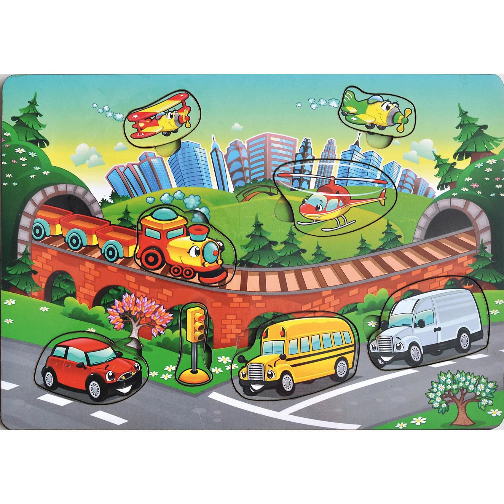 - Рамка-вкладка «Транспорт» игрушка развивающая рамка вкладка транспорт