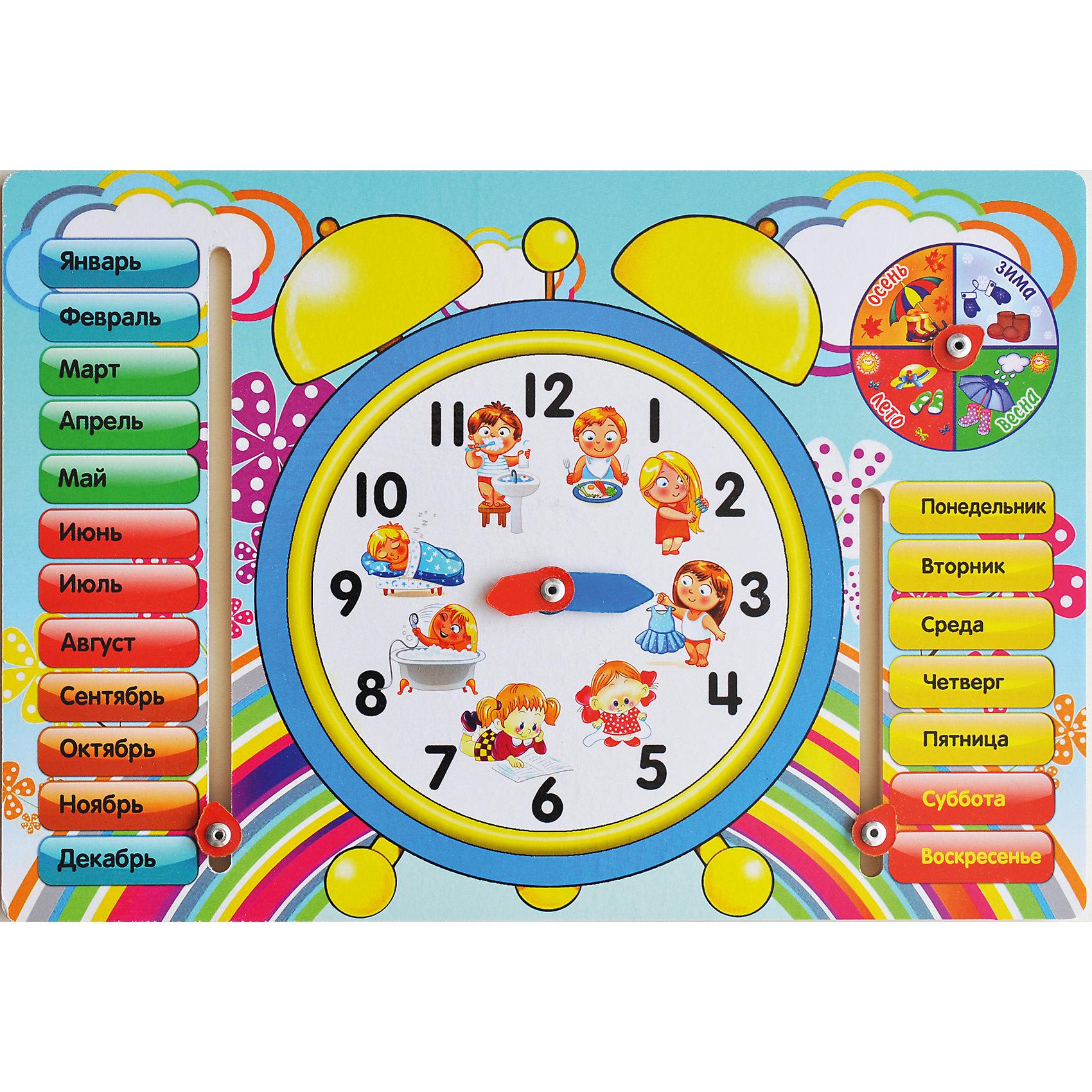 Обучающая доска «Часы»Окружающий мир<br>Малыши стремятся узнавать что-то новое и учиться контактировать с окружающим пространством. Сделать процесс познавания мира для малышей - просто! Яркая обучающая доска «Часы» поможет ребенку легко запомнить месяцы, времена года, дни недели и научиться определять время.<br>Эта доска надолго займет ребенка! Игра с ней помогает детям развивать мелкую моторику, внимательность и познавать мир. Обучающая игрушка сделана из качественных и безопасных для ребенка материалов - натурального дерева.<br><br>Дополнительная информация:<br><br>цвет: разноцветный;<br>размер:  27 х 19,5 х 0,8 см;<br>вес: 220 г;<br>материал: дерево.<br><br>Обучающую доску «Часы» можно купить в нашем магазине.<br><br>Ширина мм: 280<br>Глубина мм: 200<br>Высота мм: 5<br>Вес г: 220<br>Возраст от месяцев: 36<br>Возраст до месяцев: 2147483647<br>Пол: Унисекс<br>Возраст: Детский<br>SKU: 4916393