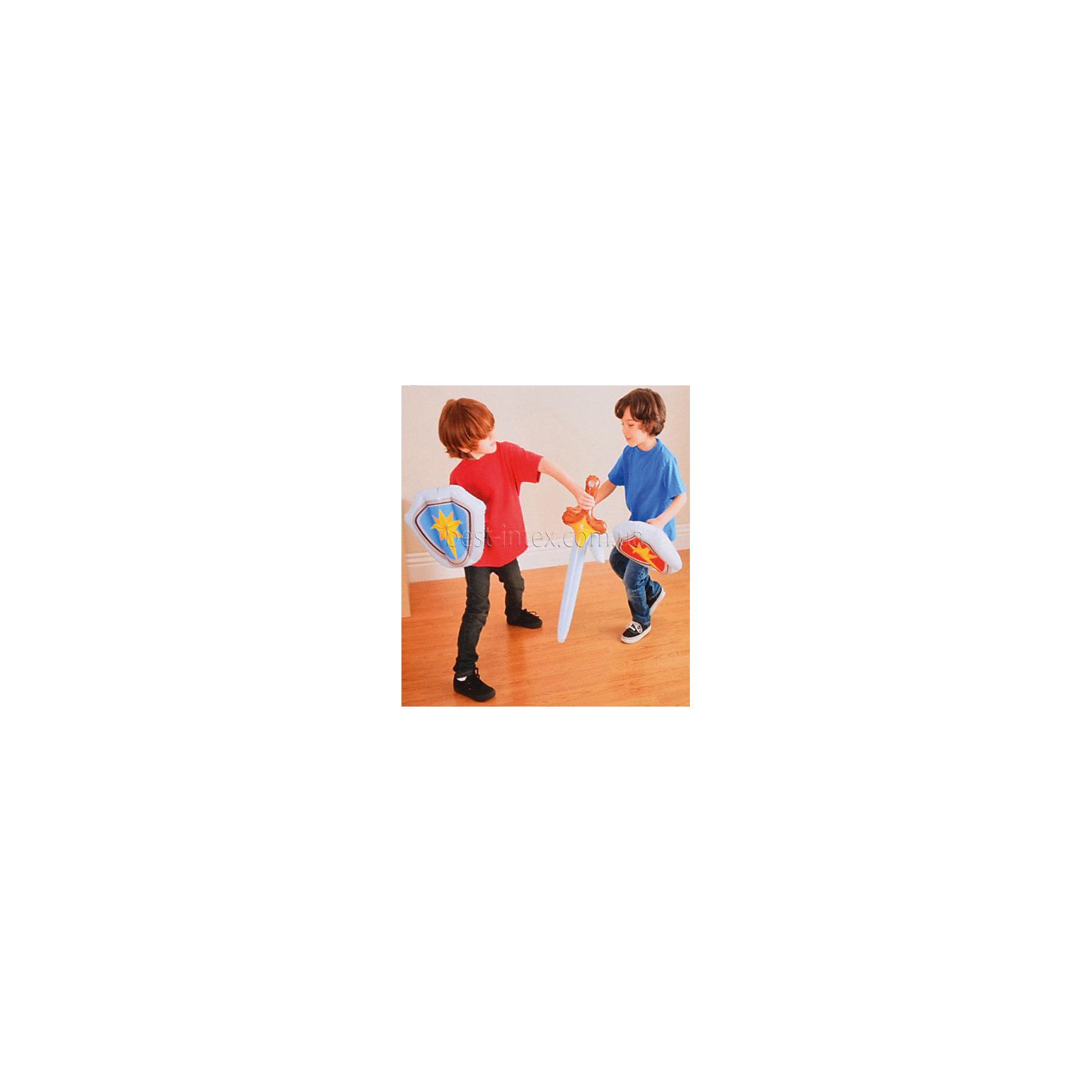 Набор надувных игрушек Щит и мечНадувные игрушки - это безопасный способ занять ребенка. Набор надувных игрушек Щит и меч позволят детям проводить бои, не боясь поранить друг друга. А еще с ними можно плавать!<br>Этот набор надолго займет детей! Игра с ним помогает детям развивать координацию движений, внимательность и ловкость. Игрушка сделана из качественных и безопасных для ребенка материалов.<br><br>Дополнительная информация:<br><br>цвет: разноцветный;<br>размер упаковки:  19 х 17 х 4 см, меч - 56 х 18 см, щит - 30 х 28;<br>вес: 190 г;<br>материал: винил.<br><br>Набор надувных игрушек Щит и меч можно купить в нашем магазине.<br><br>Ширина мм: 40<br>Глубина мм: 180<br>Высота мм: 170<br>Вес г: 191<br>Возраст от месяцев: 36<br>Возраст до месяцев: 2147483647<br>Пол: Мужской<br>Возраст: Детский<br>SKU: 4916410