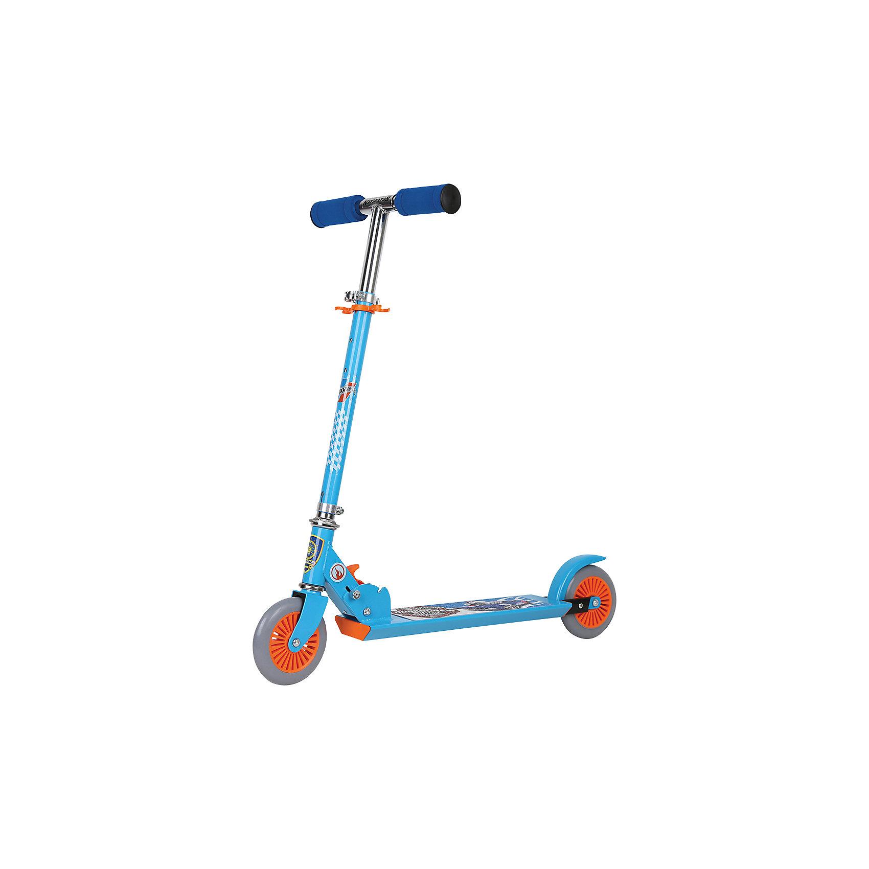- Двухколесный cамокат, Navigator, Hot Wheels navigator велосипед двухколесный hot wheels