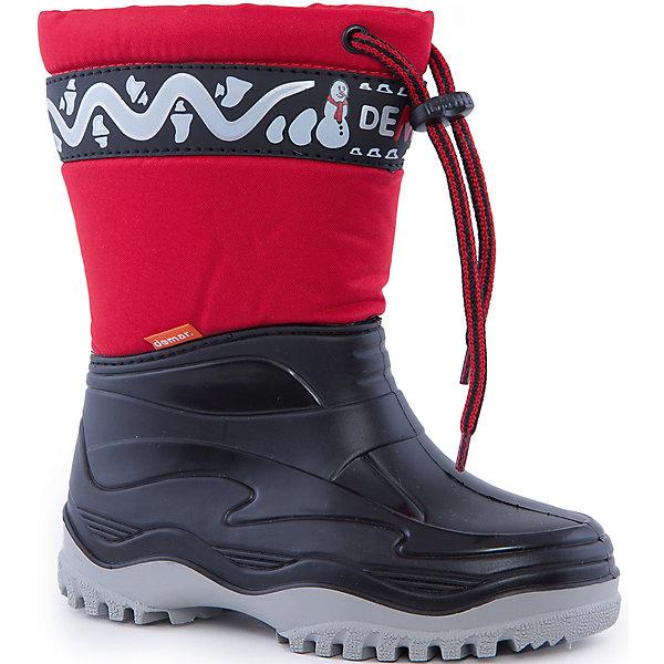 Сноубутсы Frost для мальчика DEMARСноубутсы<br>Характеристики товара:<br><br>• цвет: красный<br>• внешний материал: текстиль с водоотталкивающей пропиткой<br>• внутренний материал: искусственный мех<br>• стелька: искусственный мех<br>• подошва: резина<br>• сезон: зима<br>• температурный режим: от -10 до +5<br>• застежка: утяжка<br>• непромокаемые<br>• подошва не скользит<br>• анатомические <br>• высокие<br>• страна бренда: Польша<br>• страна изготовитель: Польша<br><br>Сноубутсы Frost для мальчика Demar состоят из текстильного верха с водоотталкивающей пропиткой и резинового плотного низа. <br><br>Такая зимняя непромокаемая обувь для детей поможет сохранить ноги в тепле и сухости. Теплые сапоги подходят для холодного межсезонья.<br><br>Сноубутсы Frost для мальчика Demar (Демар) можно купить в нашем интернет-магазине.<br><br>Ширина мм: 257<br>Глубина мм: 180<br>Высота мм: 130<br>Вес г: 420<br>Цвет: белый<br>Возраст от месяцев: 84<br>Возраст до месяцев: 96<br>Пол: Мужской<br>Возраст: Детский<br>Размер: 30/31,34/35,28/29<br>SKU: 4916635