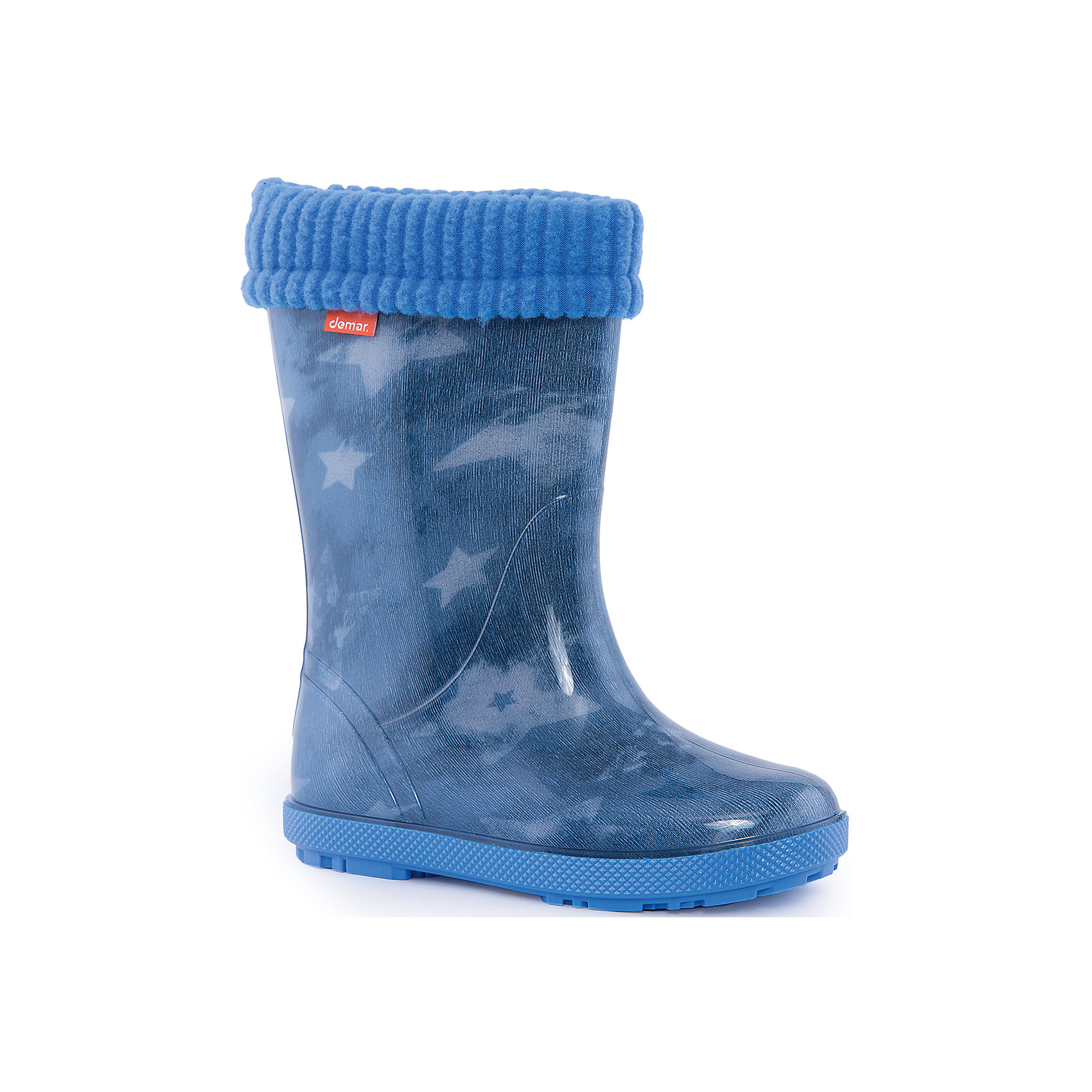Резиновые сапоги Hawai Lux Print для мальчика DEMARРезиновые сапоги<br>Характеристики товара:<br><br>• цвет: голубой<br>• материал верха: ПВХ<br>• материал подкладки: текстиль <br>• материал подошвы: ПВХ<br>• температурный режим: от 0° до +15° С<br>• верх не продувается<br>• съемный чулок<br>• стильный дизайн<br>• страна бренда: Польша<br>• страна изготовитель: Польша<br><br>Осенью и весной ребенку не обойтись без непромокаемых сапожек! Чтобы не пропустить главные удовольствия межсезонья, нужно запастись удобной обувью. Такие сапожки обеспечат ребенку необходимый для активного отдыха комфорт, а подкладка из текстиля позволит ножкам оставаться теплыми. Сапожки легко надеваются и снимаются, отлично сидят на ноге. Они удивительно легкие!<br>Обувь от польского бренда Demar - это качественные товары, созданные с применением новейших технологий и с использованием как натуральных, так и высокотехнологичных материалов. Обувь отличается стильным дизайном и продуманной конструкцией. Изделие производится из качественных и проверенных материалов, которые безопасны для детей.<br><br>Сапожки от бренда Demar (Демар) можно купить в нашем интернет-магазине.<br><br>Ширина мм: 257<br>Глубина мм: 180<br>Высота мм: 130<br>Вес г: 420<br>Цвет: синий<br>Возраст от месяцев: 120<br>Возраст до месяцев: 132<br>Пол: Мужской<br>Возраст: Детский<br>Размер: 34/35,32/33,30/31,28/29<br>SKU: 4916644