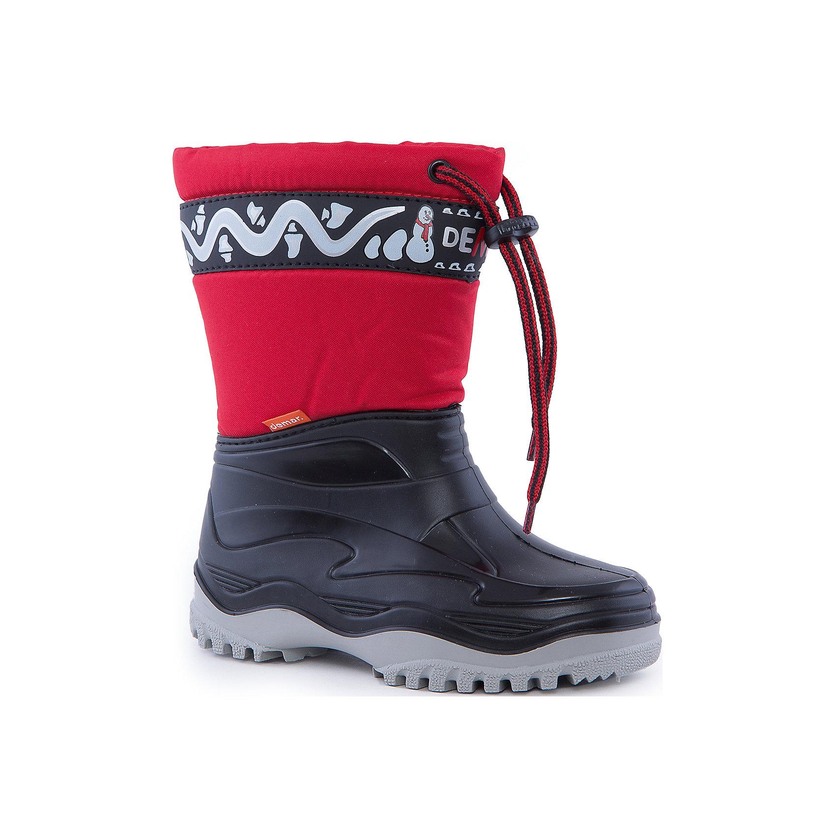 Сапоги Frost DEMARХарактеристики товара:<br><br>• цвет: красный<br>• материал верха: ПВХ<br>• материал подкладки: текстиль <br>• материал подошвы: ПВХ<br>• температурный режим: от 0° до +15° С<br>• верх не продувается<br>• утяжка по верху сапог<br>• утепленный чулок<br>• стильный дизайн<br>• страна бренда: Польша<br>• страна изготовитель: Польша<br><br>Осенью и весной ребенку не обойтись без непромокаемых сапожек! Чтобы не пропустить главные удовольствия межсезонья, нужно запастись удобной обувью. Такие сапожки обеспечат ребенку необходимый для активного отдыха комфорт, а подкладка из текстиля позволит ножкам оставаться теплыми. Сапожки легко надеваются и снимаются, отлично сидят на ноге. Они удивительно легкие!<br>Обувь от польского бренда Demar - это качественные товары, созданные с применением новейших технологий и с использованием как натуральных, так и высокотехнологичных материалов. Обувь отличается стильным дизайном и продуманной конструкцией. Изделие производится из качественных и проверенных материалов, которые безопасны для детей.<br><br>Сапоги от бренда Demar (Демар) можно купить в нашем интернет-магазине.<br><br>Ширина мм: 257<br>Глубина мм: 180<br>Высота мм: 130<br>Вес г: 420<br>Цвет: красный<br>Возраст от месяцев: 60<br>Возраст до месяцев: 72<br>Пол: Унисекс<br>Возраст: Детский<br>Размер: 32/33,30/31,34/35,28/29,26/27<br>SKU: 4916661
