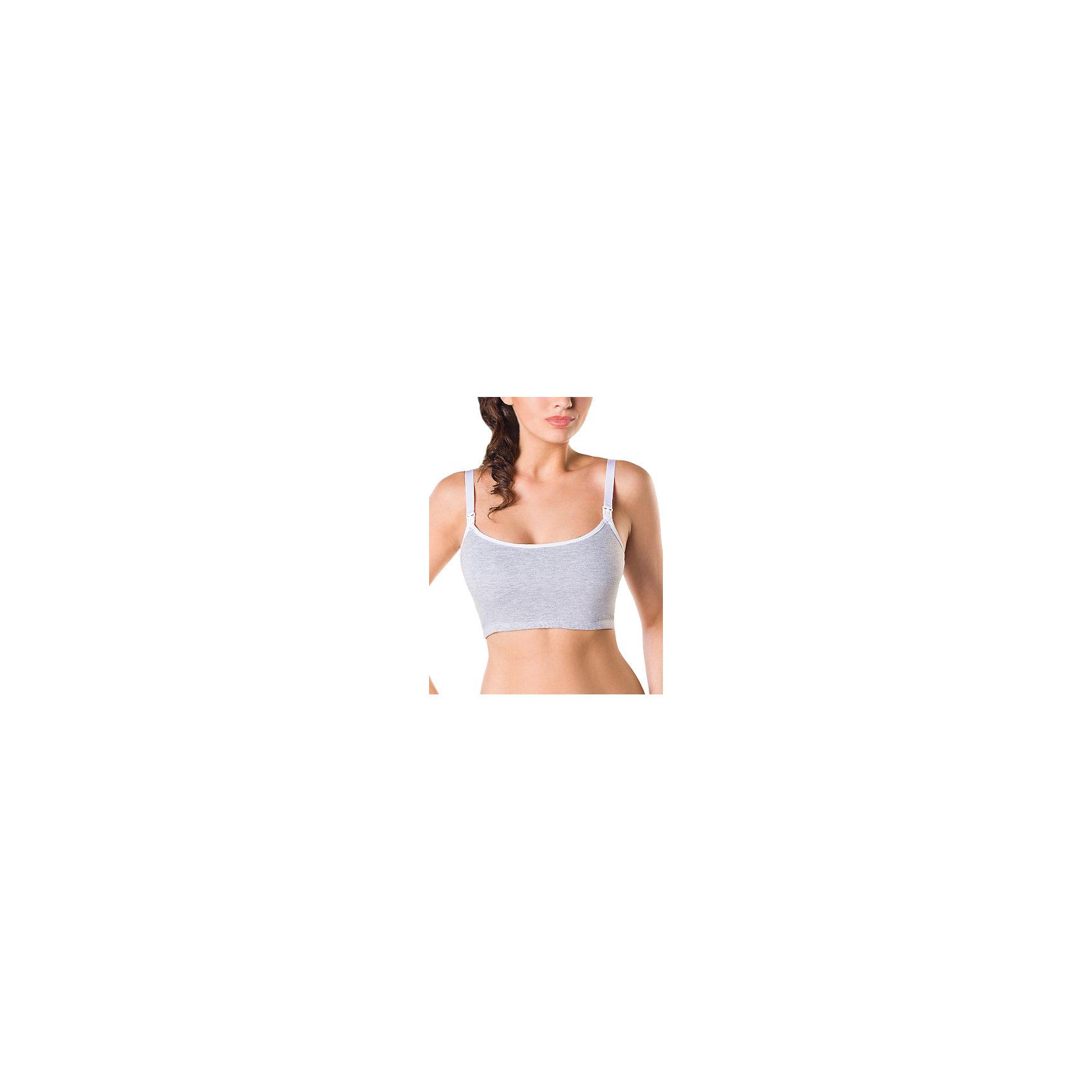Майка для кормящих женщин ФЭСТМайка укороченная (топ) ФЭСТ для кормящих женщин рекомендована Российским обществом акушеров-гинекологов.<br>Модель с узкими бретелями можно носить под одежду как бюстгальтер.<br>Эластичный хлопок хорошо поддерживает грудь, подстраиваясь под естественные изменения тела во время беременности и после родов.<br>Резинка по нижнему краю топа фиксирует грудь, не оказывая давления<br><br><br>Состав: ПЭ-69%, хлопок-27%, эластан-4%<br><br>Ширина мм: 196<br>Глубина мм: 10<br>Высота мм: 154<br>Вес г: 152<br>Цвет: серый<br>Возраст от месяцев: 0<br>Возраст до месяцев: 1188<br>Пол: Женский<br>Возраст: Детский<br>Размер: 50,46,44,48<br>SKU: 4917603