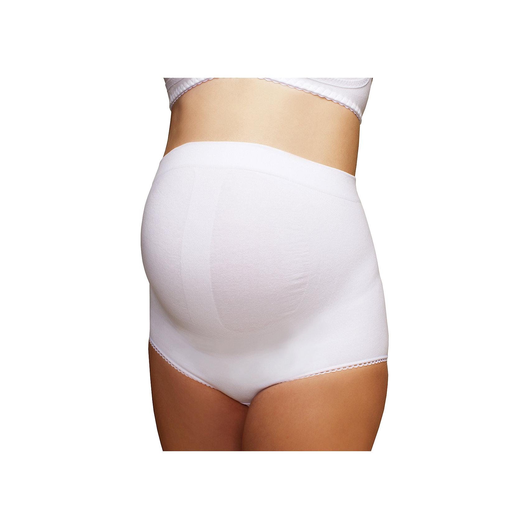 Трусы бесшовные для беременных ФЭСТНижнее белье<br>Пояс-трусы бесшовный для беременных женщин<br>Поддерживает живот, облегчает нагрузку на поясничный отдел и фиксирует область пупка.<br>Пояс-трусы эффективно снижает увеличивающуюся с ростом плода нагрузку на внутренние органы и позвоночник.<br>Позволяет вести более активный образ жизни.<br>Упругие косточки и широкая полоса плотного переплетения фиксируют поясничную область, тем самым снижая нагрузку на позвоночник.<br>Специальная усиленная вязка поддерживает живот.<br>Наличие удобной застежки снизу позволяет не снимать пояс-трусы при необходимости.<br><br><br><br>Состав: хлопок-62%, ПА-34%, эластан-4%<br><br>Ширина мм: 196<br>Глубина мм: 10<br>Высота мм: 154<br>Вес г: 152<br>Цвет: белый<br>Возраст от месяцев: 0<br>Возраст до месяцев: 1188<br>Пол: Женский<br>Возраст: Детский<br>Размер: 44,50,48,46,52<br>SKU: 4918094