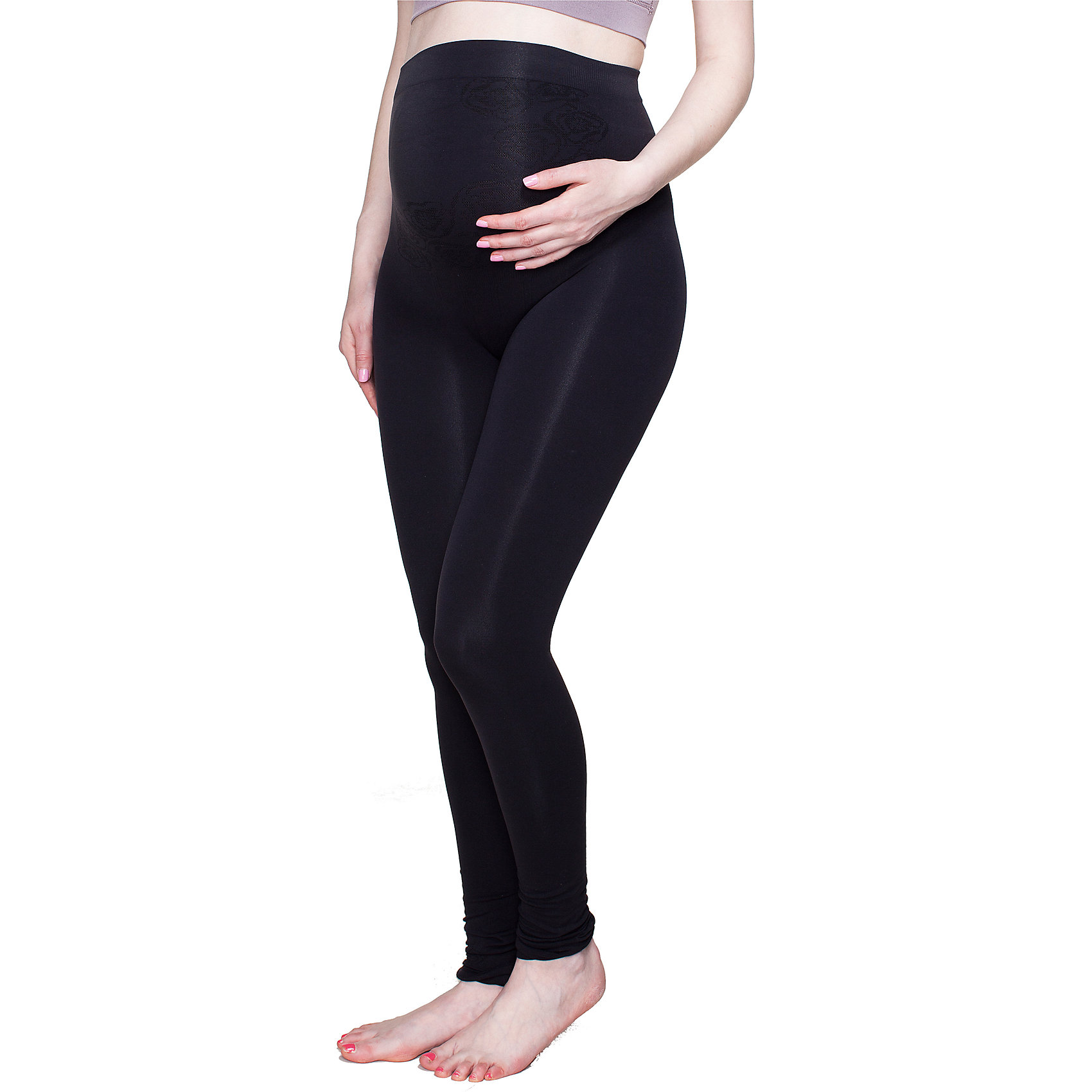 Леггисы бесшовные для беременных ФЭСТНижнее белье<br>Леггинсы бесшовные для беременных<br>Удобная модель для отдыха.<br>Высокая посадка — полностью закрывают живот.<br>За счет особой конструкции и эластичности материала поддерживают живот, плавно растягиваются по мере его роста.<br>Не оказывают давления на живот и ноги.<br>Не стесняют движений, приятны к телу.<br>Выполнены из мягкой микрофибры, обладающей хорошей воздухопроницаемостью.<br><br><br>Состав: ПА-93%, эластан-7%<br><br>Ширина мм: 123<br>Глубина мм: 10<br>Высота мм: 149<br>Вес г: 209<br>Цвет: черный<br>Возраст от месяцев: 0<br>Возраст до месяцев: 1188<br>Пол: Женский<br>Возраст: Детский<br>Размер: 52,44<br>SKU: 4918256