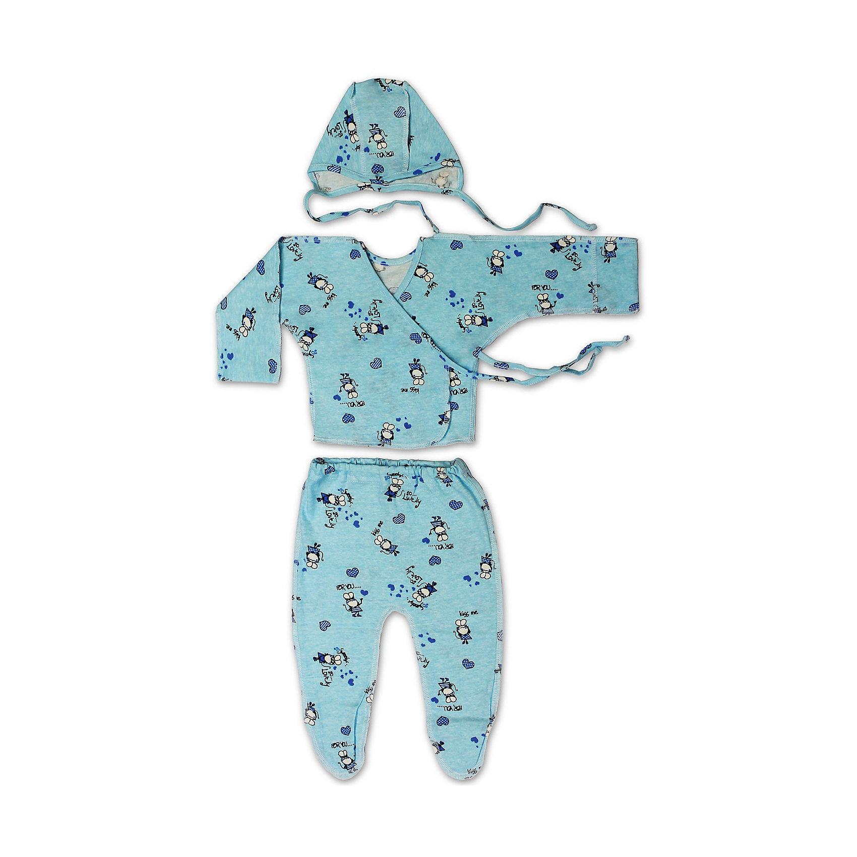 Комплект стерильного белья для новорожденного ФЭСТКомплекты<br>Комплект стерильного белья для новорожденного ФЭСТ можно брать с собой в перинатальное отделение, роддом и другие стационары, где инфекционной безопасности уделяется особое внимание.<br><br>Позаботьтесь о безопасности своего малыша — возьмите с собой в роддом этот симпатичный комплект, выполненный из трикотажного хлопкового полотна с набивным рисунком.<br><br>В комплект входят ползунки, распашонка, чепчик.<br>Для удобства малыша модели выполнены швами наружу.<br><br>Комплект предназначен для использования как в больнице, так и дома, после выписки.<br><br><br>Состав: хлопок-100%<br><br>Ширина мм: 157<br>Глубина мм: 13<br>Высота мм: 119<br>Вес г: 200<br>Цвет: голубой<br>Возраст от месяцев: 0<br>Возраст до месяцев: 3<br>Пол: Унисекс<br>Возраст: Детский<br>Размер: 56<br>SKU: 4918306