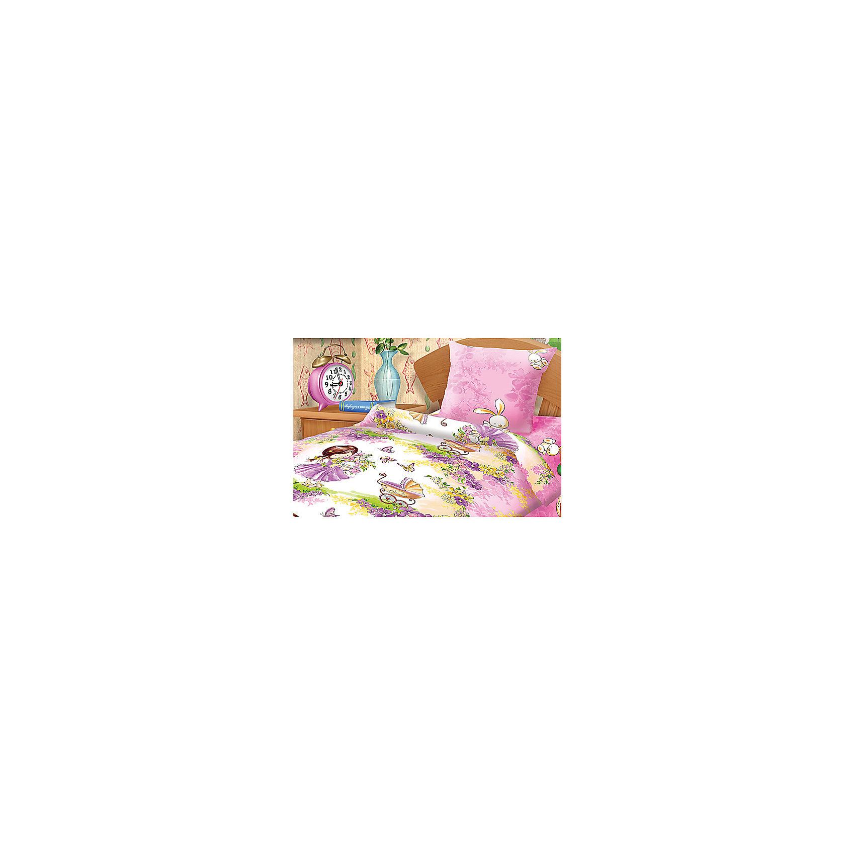 Непоседа Постельное белье 1,5 Девочка с зайкой, Н/У, 70*70, Непоседа, бязь непоседа непоседа детское постельное белье 1 5 спальное emoji movie эмоджи стайл