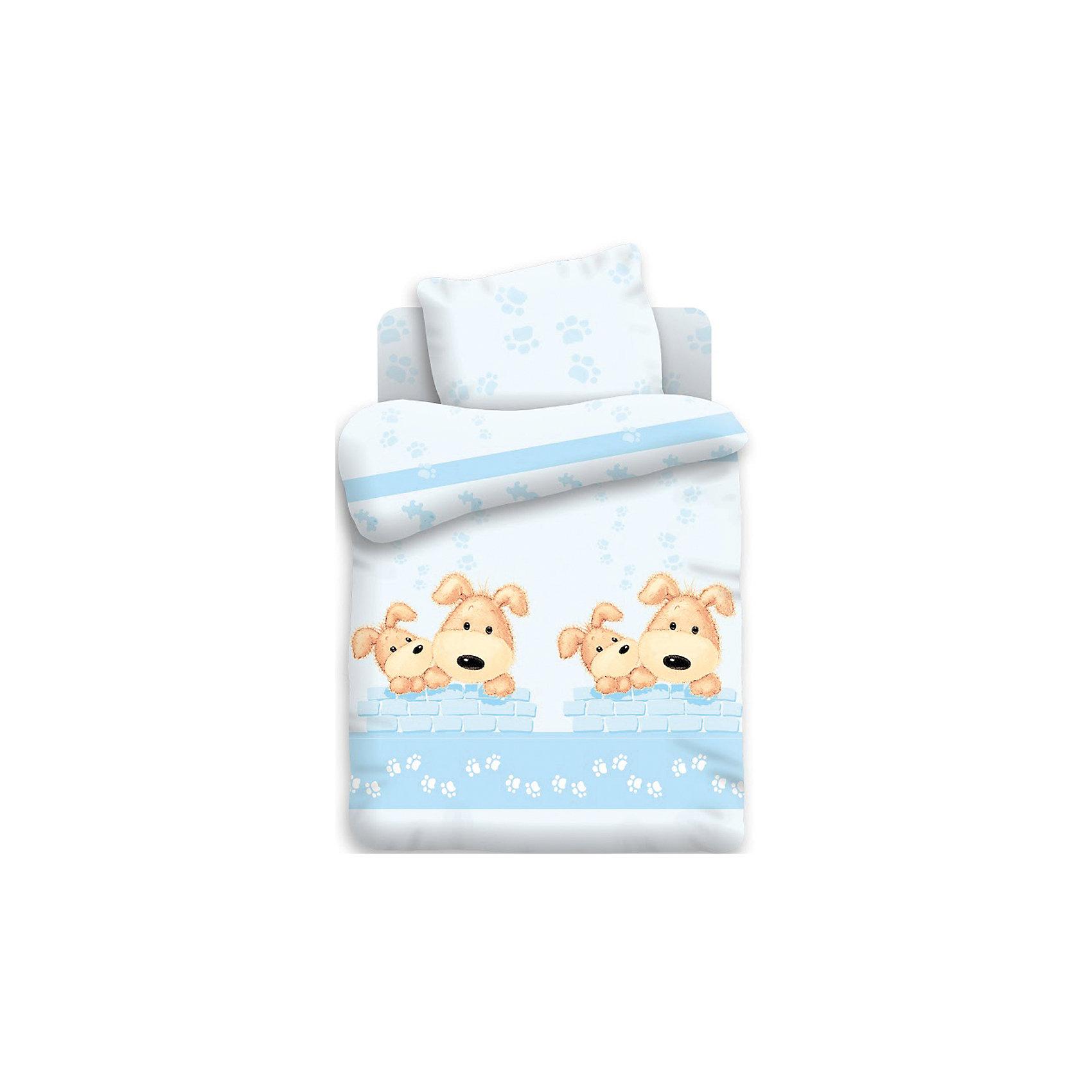 Постельное белье Собачки 3 пред, Непоседа, бязьДетское постельное белье обязано быть не только комфортным, но и красивым! Этот комплект, состоящий из пододеяльника, простыни и наволочки, обязательно понравится детям из-за симпатичного принта.<br>Все предметы из набора - стандартных размеров, поэтому отлично подойдут к обычной кровати, подушке и одеялу. Материал - натуральный хлопок, который не вызовет аллергии, позволяя при этом коже дышать. Без проблем стирается и его очень легко гладить. Порадуйте ребенка оригинальным и приятным на ощупь комплектом!<br><br>Дополнительная информация:<br><br>состав: бязь (100% хлопок);<br>цвет: разноцветный, принт;<br>пододеяльник: 147 на 112 см;<br>простыня: 110 на 150 см;<br>наволочка: 40 на 60 см.<br><br>Постельное белье Собачки 3 пред, от бренда Непоседа можно купить в нашем магазине.<br><br>Ширина мм: 270<br>Глубина мм: 90<br>Высота мм: 380<br>Вес г: 1200<br>Возраст от месяцев: 0<br>Возраст до месяцев: 36<br>Пол: Унисекс<br>Возраст: Детский<br>SKU: 4918323