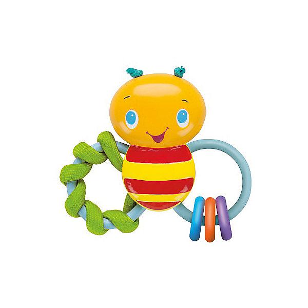 Погремушка Пчелка, Bright StartsИгрушки для новорожденных<br>Погремушка Пчелка от знаменитого американского бренда Bright Starts (Брайт стартс). Яркая и веселая погремушка в виде пчелки изготовленной из разного вида материала сделает игру малыша еще интереснее! Два колечка выполнены в виде крылышек, на одном из них текстильная спиралька, которая поможет развить тактильное восприятие малыша, а на другом крылышке три колечка, изготовленнных из высококачественной резины, поможет прорезаться зубкам и развить жевательные и кусательные рефлексы. Цветная пчелка так еще и погремушка, это поможет развить звуковое и цветовое восприятие ребенка. <br>- Дополнительная информация:<br>- Материал: пластик, резина, текстиль<br>- Размер 13 * 12 * 4 см.<br><br>Погремушку Пчелка, Bright Starts можно купить в нашем интернет-магазине.<br><br>Подробнее:<br>• Для детей в возрасте: от 0 месяцев до 1 года<br>• Номер товара: 4918357<br>Страна производитель: Китай<br><br>Ширина мм: 142<br>Глубина мм: 193<br>Высота мм: 36<br>Вес г: 104<br>Возраст от месяцев: 0<br>Возраст до месяцев: 36<br>Пол: Унисекс<br>Возраст: Детский<br>SKU: 4918357