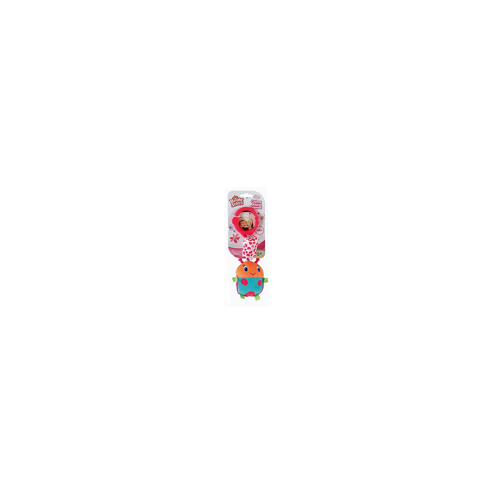 Развивающая игрушка Звонкий дружок, Божья коровка, Bright StartsРазвивающие игрушки<br>Развивающая игрушка Звонкий дружок, Божья коровка от знаменитого американского бренда Bright Starts (Брайт стартс). Яркая и веселая плюшевая игрушка в виде божьей коровки изготовлена из разного типа текстур и делает игру малыша еще интереснее! Подушечка над коровкой наполнена колокольчиками, и издает приятный звон, а если потянуть за саму божью коровку, то она будет вибрировать. Игрушка поможет развить звуковое, цветовое и тактильное восприятие ребенка. Кроме того, у нее имеется удобное крепление, что позволяет повесить ее на коляску, переноску или интерактивный коврик.<br>- Дополнительная информация:<br>- Материал: пластик, текстиль<br>- Размер 9 * 5 * 26 см.<br><br>Развивающую игрушку «Звонкий дружок, Божья коровка, Bright Starts можно купить в нашем интернет-магазине.<br><br>Подробнее:<br>• Для детей в возрасте: от 0 месяцев до 1 года<br>• Номер товара: 4918360<br>Страна производитель: Китай<br><br>Ширина мм: 150<br>Глубина мм: 260<br>Высота мм: 90<br>Вес г: 87<br>Возраст от месяцев: 0<br>Возраст до месяцев: 12<br>Пол: Унисекс<br>Возраст: Детский<br>SKU: 4918360