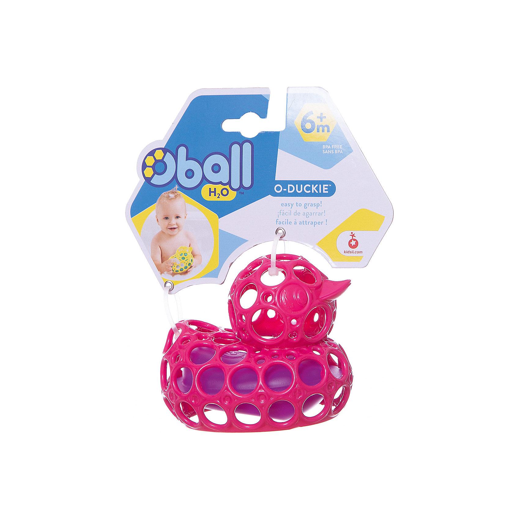 Oball Игрушка для ванны Уточка, розовая, Oball oball для ванной комнаты