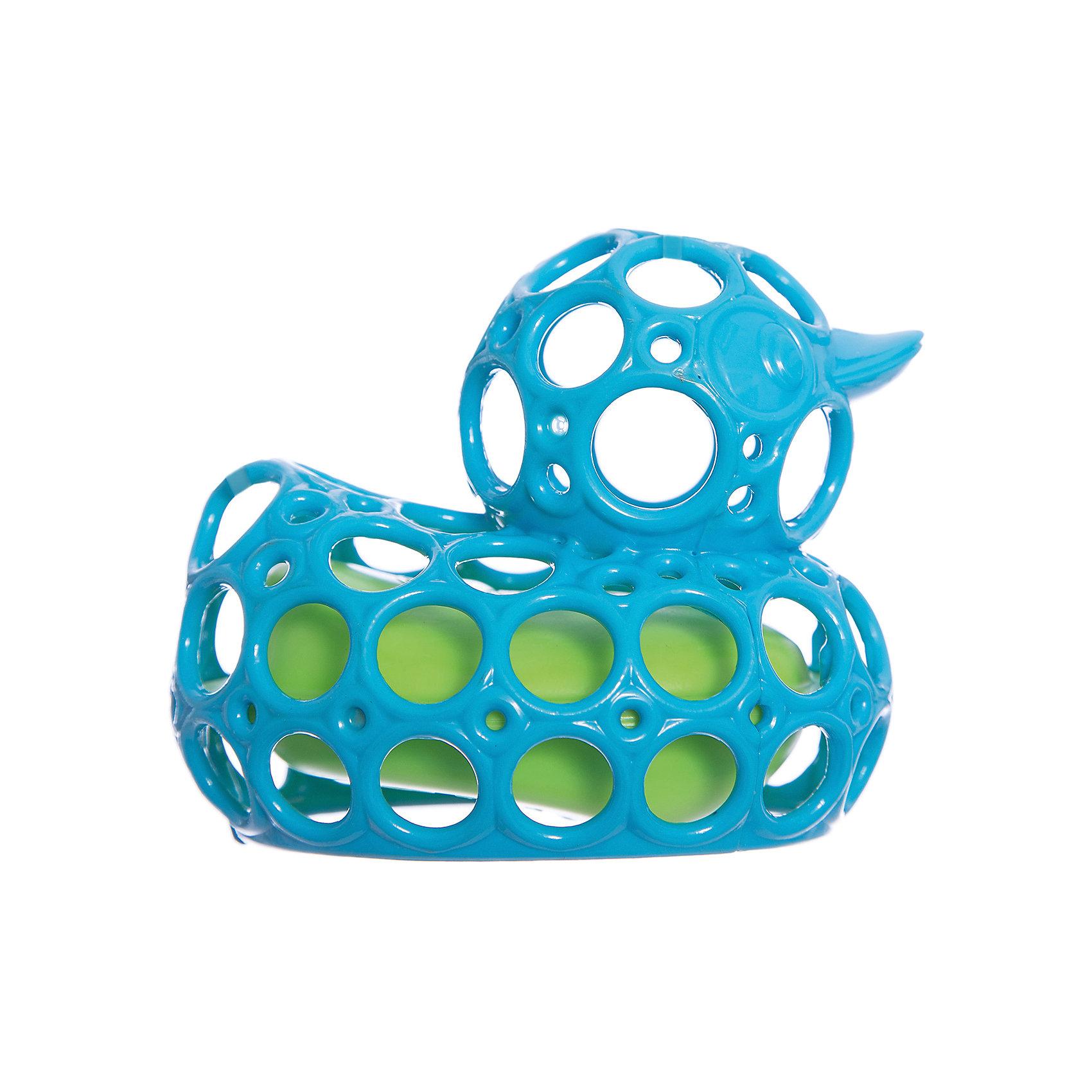 Oball Игрушка для ванны Уточка, голубая, Oball тижекс горка для ванной анатомическая голубая