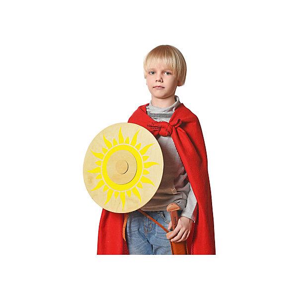 Щит круглыйИгрушечные мечи и щиты<br>Круглый игрушечный щит выглядит совсем как у настоящих богатырей! Щит сделан из экологически чистых материалов компанией ЯиГрушка, специализирующейся на деревянном игрушечном оружии для детей. Игрушка поможет развить воображение и придумать много сюжетных игр. Также это поможет ребенку узнать больше о древнерусской культуре.<br>Дополнительная информация:<br>- Материал: дерево<br>- Диаметр: 35 см<br>- Вес: 330 г.<br><br>Круглый щит можно купить в нашем интернет-магазине.<br><br>Подробнее:<br>• Для детей в возрасте: от 4 лет<br>• Номер товара: 4918382<br>Страна производитель: Китай<br>Ширина мм: 350; Глубина мм: 350; Высота мм: 59; Вес г: 330; Возраст от месяцев: 48; Возраст до месяцев: 120; Пол: Мужской; Возраст: Детский; SKU: 4918382;