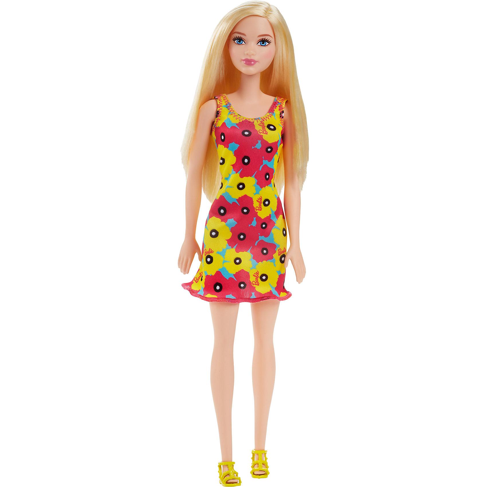 Кукла из серии Стиль, BarbieBarbie<br>Кукла из серии Стиль, Barbie (Барби) ? самая любимая и популярная кукла среди девочек разных возрастов представлена в новой серии Стиль. Кукла выполнена из экологично безопасного резины и пластика, волосы изготовлены из нейлона. У куклы голова, руки и ноги двигаются.<br>У Barbie серии Стиль длинные светлые волосы с прямым пробором. Она одета в стильное короткое приталенное платье, у которого на передней полочке имеется черно-белый полосатый принт волнами с розами, небольшими рукавами и горловиной в форме лодочки. Рукава и низ платья оформлены черным кантом. На ногах Барби съемные туфельки черного цвета.<br>Кукла из серии Стиль, Barbie (Барби) может быть отличным вариантом в качестве подарка для девочки к любому торжеству или в качестве коллекционной куклы.<br><br>Дополнительная информация:<br><br>- Вид игр: сюжетно-ролевые <br>- Предназначение: для дома<br>- Серия: Стиль<br>- Материал: пластик, резина, текстиль<br>- Размер (Д*Ш*В): 6*5*8 см<br>- Вес: 158 г <br>- Особенности ухода: куклу можно купать, аксессуары ? мыть в теплой мыльной воде, платье ? ручная стирка<br><br>Подробнее:<br><br>• Для детей в возрасте: от 3 лет и до 10 лет<br>• Страна производитель: Индонезия<br>• Торговый бренд: Barbie<br><br>Куклу из серии Стиль, Barbie (Барби) можно купить в нашем интернет-магазине.<br><br>Ширина мм: 60<br>Глубина мм: 50<br>Высота мм: 80<br>Вес г: 158<br>Возраст от месяцев: 36<br>Возраст до месяцев: 120<br>Пол: Женский<br>Возраст: Детский<br>SKU: 4918448