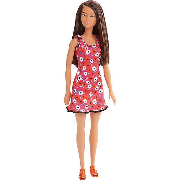 Кукла из серии Стиль, BarbieBarbie<br>Кукла из серии Стиль, Barbie (Барби) ? самая любимая и популярная кукла среди девочек разных возрастов представлена в новой серии Стиль. Кукла выполнена из экологично безопасного резины и пластика, волосы изготовлены из нейлона. У куклы голова, руки и ноги двигаются.<br>У Barbie серии Стиль длинные светлые слегка волнистые волосы. Она одета в стильное короткое приталенное платье розового цвета на бретелях, украшенного принтом из фирменных розовых и черных надписей  Barbie. Бретельки и низ платья оформлены кантом. На ногах Барби съемные босоножки на каблуке.<br>Кукла из серии Стиль, Barbie (Барби) может быть отличным вариантом в качестве подарка для девочки к любому торжеству или в качестве коллекционной куклы.<br><br>Дополнительная информация:<br><br>- Вид игр: сюжетно-ролевые <br>- Предназначение: для дома<br>- Серия: Стиль<br>- Материал: пластик, резина, текстиль<br>- Размер (Д*Ш*В): 6*5*8 см<br>- Вес: 158 г <br>- Особенности ухода: куклу можно купать, аксессуары ? мыть в теплой мыльной воде, платье ? ручная стирка<br><br>Подробнее:<br><br>• Для детей в возрасте: от 3 лет и до 10 лет<br>• Страна производитель: Индонезия<br>• Торговый бренд: Barbie<br><br>Куклу из серии Стиль, Barbie (Барби) можно купить в нашем интернет-магазине.<br><br>Ширина мм: 60<br>Глубина мм: 50<br>Высота мм: 80<br>Вес г: 158<br>Возраст от месяцев: 36<br>Возраст до месяцев: 120<br>Пол: Женский<br>Возраст: Детский<br>SKU: 4918450