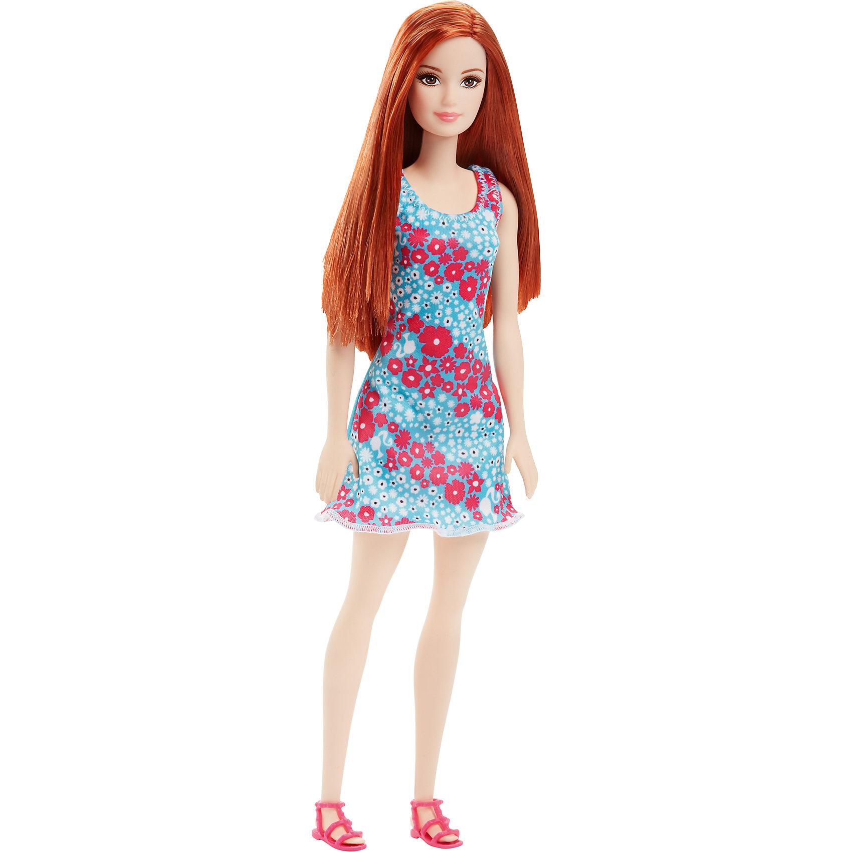 Кукла из серии Стиль, BarbieBarbie<br>Кукла из серии Стиль, Barbie (Барби) ? самая любимая и популярная кукла среди девочек разных возрастов представлена в новой серии Стиль. Кукла выполнена из экологично безопасного резины и пластика, волосы изготовлены из нейлона. У куклы голова, руки и ноги двигаются.<br>У Barbie серии Стиль длинные светлые слегка волнистые волосы. Она одета в стильное короткое приталенное платье розового цвета на бретелях, украшенного принтом из с крупными цветами. Бретельки и низ платья оформлены кантом. На ногах Барби съемные босоножки на каблуке.<br>Кукла из серии Стиль, Barbie (Барби) может быть отличным вариантом в качестве подарка для девочки к любому торжеству или в качестве коллекционной куклы.<br><br>Дополнительная информация:<br><br>- Вид игр: сюжетно-ролевые <br>- Предназначение: для дома<br>- Серия: Стиль<br>- Материал: пластик, резина, текстиль<br>- Размер (Д*Ш*В): 6*5*8 см<br>- Вес: 158 г <br>- Особенности ухода: куклу можно купать, аксессуары ? мыть в теплой мыльной воде, платье ? ручная стирка<br><br>Подробнее:<br><br>• Для детей в возрасте: от 3 лет и до 10 лет<br>• Страна производитель: Индонезия<br>• Торговый бренд: Barbie<br><br>Куклу из серии Стиль, Barbie (Барби) можно купить в нашем интернет-магазине.<br><br>Ширина мм: 60<br>Глубина мм: 50<br>Высота мм: 80<br>Вес г: 158<br>Возраст от месяцев: 36<br>Возраст до месяцев: 120<br>Пол: Женский<br>Возраст: Детский<br>SKU: 4918451