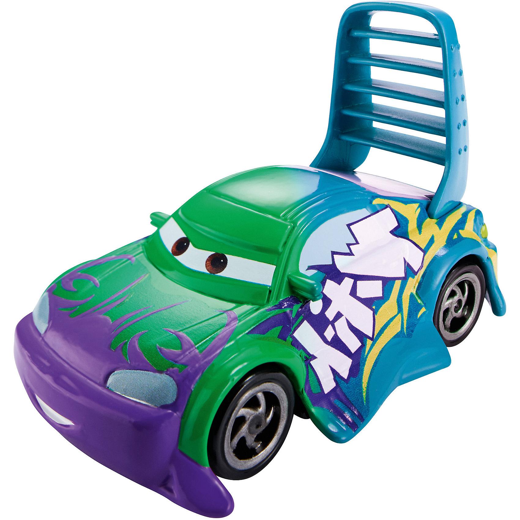 Машинка, меняющая цвет, ТачкиМашинка, меняющая цвет, Тачки от Mattel (Маттел) ? герои любимого мультфильма Тачки представлены в новой уникальной серии Color Changers от Mattel. Машинка выполнена из высококачественного пластика, устойчивого к механическим повреждениям. У машины вращающиеся колеса и инерционный механизм. <br>Машинка Винтец выполнена в фиолетовых, голубых и зеленых оттенках. При погружении в воду, корпус машинки меняет цвет, насыщенность цвета зависит от температуры воды.<br>Машинка, меняющая цвет, Тачки от Mattel (Маттел) позволит не только создать уникальный дизайн машинки, но и воспроизвести полюбившиеся сцены из мультфильма или придумать свою историю с главными героями.<br><br>Дополнительная информация:<br><br>- Вид игр: сюжетно-ролевые <br>- Предназначение: для дома<br>- Серия: Color Changers<br>- Материал: пластик<br>- Размер: 4,5*14*21,5 см<br>- Вес: 84 г <br>- Особенности ухода: разрешается мыть<br><br>Подробнее:<br><br>• Для детей в возрасте: от 3 лет и до 10 лет<br>• Страна производитель: Китай<br>• Торговый бренд: Mattel<br><br>Машинку, меняющую цвет, Тачки от Mattel (Маттел) можно купить в нашем интернет-магазине.<br><br>Ширина мм: 45<br>Глубина мм: 140<br>Высота мм: 215<br>Вес г: 84<br>Возраст от месяцев: 36<br>Возраст до месяцев: 120<br>Пол: Мужской<br>Возраст: Детский<br>SKU: 4918467