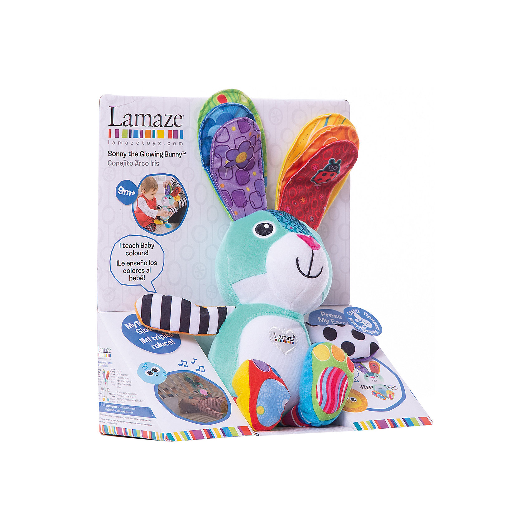 TOMY Мягкая игрушка Учёный Зайка. Учим цвета, Tomy Lamaze большую мягкую игрушку собаку лежа в москве