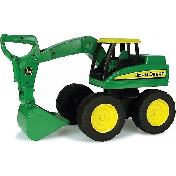 Большегрузный экскаватор John Deere, TomyСельскохозяйственный транспорт<br>Разнообразную технику обожает множество современных мальчишек, поэтому большегрузный экскаватор, выглядящий почти как настоящий, обязательно порадует ребенка. Такие игрушки помогают детям развивать воображение, мелкую моторику, логику и творческое мышление.<br>Машина прекрасно детализирована, подвижный ковш снабжен удобной ручкой для поднимания и опускания. Мощные колеса проедут легко по любой поверхности, экскаватором можно играть на улице. Игрушка очень прочная. Кабина для строителя открытая, что позволяет помесить туда своего рабочего. С такой игрушкой можно придумать множество игр!<br><br>Дополнительная информация:<br><br>цвет: разноцветный;<br>размер: 24 х 41 х 21 см;<br>материал: пластик, металл, резина<br>вес: 470 гр;<br>подвижный ковш, колеса, двери.<br><br>Большегрузный экскаватор John Deere, Tomy можно купить в нашем магазине.<br><br>Ширина мм: 405<br>Глубина мм: 240<br>Высота мм: 210<br>Вес г: 200<br>Возраст от месяцев: 36<br>Возраст до месяцев: 2147483647<br>Пол: Мужской<br>Возраст: Детский<br>SKU: 4918475