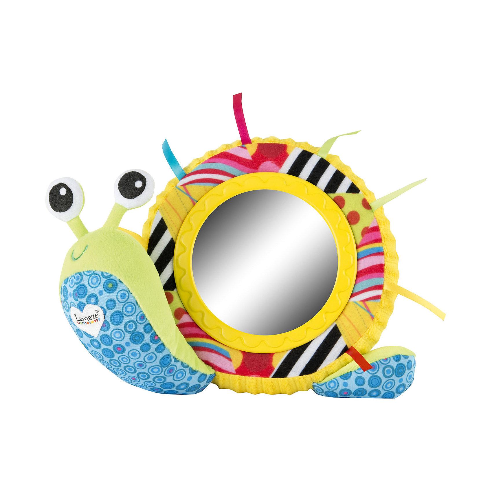 TOMY Мягкая игрушка Улитка Мишель с зеркальцем, свет, звук, Tomy Lamaze