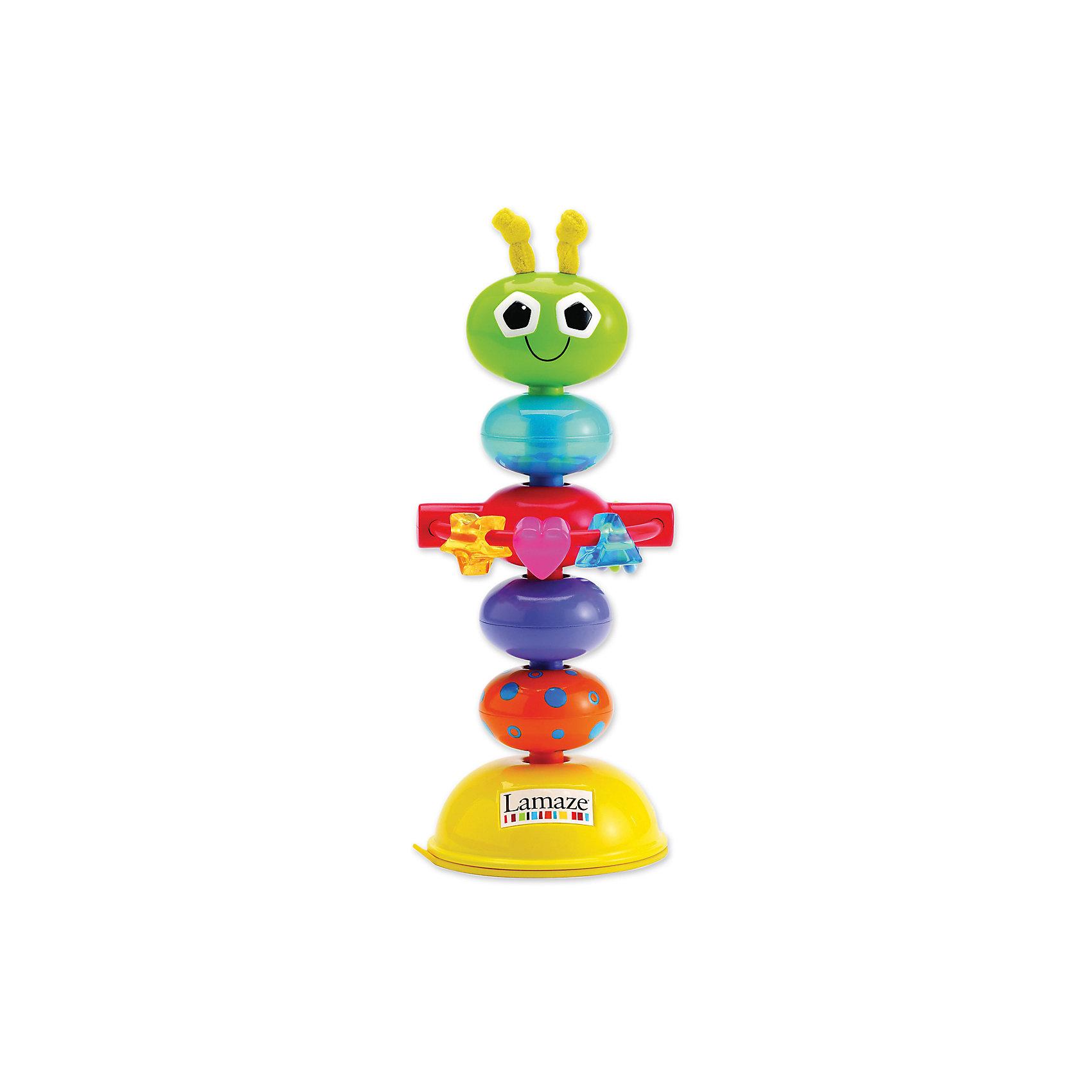 TOMY Погремушка с присоской Деловой Жучок, Tomy Lamaze tomy игрушка с присоской на стульчике веселые утята tomy lamaze