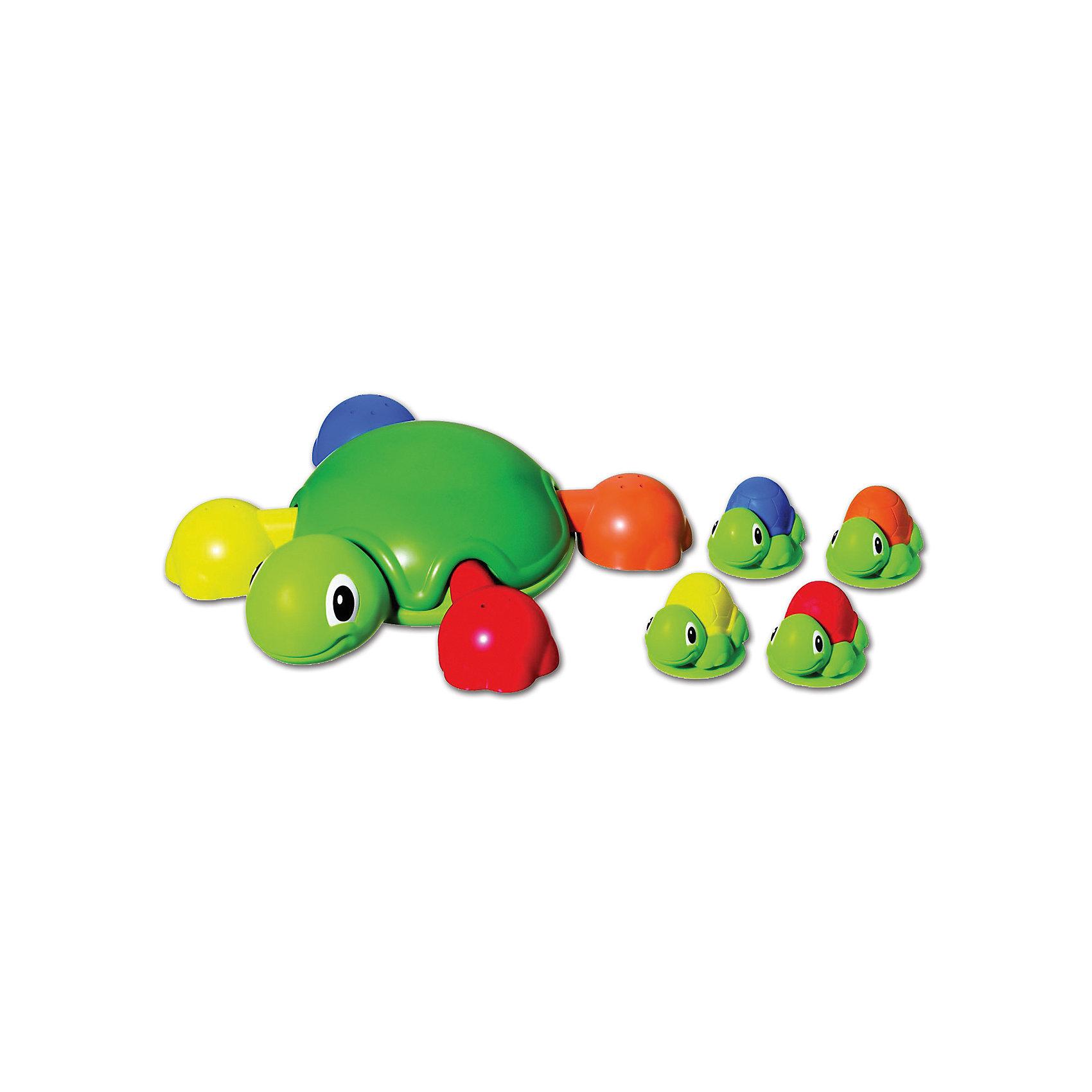 Игра для ванной Весёлые черепашки, брызгалка, TomyИгровые наборы<br>Кто из малышей не любит плескаться в ванне?! Сделать купание веселее помогут игрушки в форме черепашек, этот набор обязательно порадует ребенка. В наборе - большая черепаха со съемными лапками-совочками и четыре маленьких, на присосках, ими можно брызгаться. Такие игрушки помогают детям развивать воображение, мелкую моторику, логику и творческое мышление.<br>Игрушки абсолютно безопасны для ребенка, сделаны из качественных материалов, легко моются. В них можно набирать воду и брызгаться струёй воды <br><br>Дополнительная информация:<br><br>цвет: разноцветный;<br>размер коробки: 28 х 30 х 8 см;<br>вес: 740 г;<br>материал: пластик.<br><br>Игру для ванной Весёлые черепашки, брызгалка, Tomy  можно купить в нашем магазине.<br><br>Ширина мм: 300<br>Глубина мм: 90<br>Высота мм: 280<br>Вес г: 740<br>Возраст от месяцев: 12<br>Возраст до месяцев: 2147483647<br>Пол: Унисекс<br>Возраст: Детский<br>SKU: 4918485