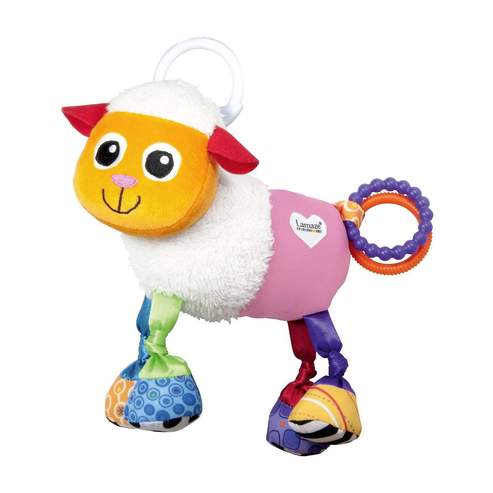 Мягкая погремушка-шуршалка Овечка Шереми с подвеской, Tomy LamazeПогремушки<br>Симпатичная игрушка Овечка Шереми обязательно понравится ребенку. Игрушка сделана из мягких материалов разной фактуры, что развивает тактильное восприятие ребенка. Она дополнена погремушками и шуршащими элементами, игрушку можно повесить в коляску с помощью специального крепления.<br>Эта игрушка обязательно займет ребенка! Игра с ней помогает детям развивать мелкую моторику, внимательность и познавать мир. Обучающая игрушка сделана из качественных и безопасных для ребенка материалов.<br><br>Дополнительная информация:<br><br>цвет: разноцветный;<br>размер: 18 х 13 х 4 см;<br>материал: текстиль.<br><br>Мягкую погремушку-шуршалку Овечка Шереми с подвеской, Tomy Lamaze можно купить в нашем магазине.<br><br>Ширина мм: 170<br>Глубина мм: 200<br>Высота мм: 80<br>Вес г: 307<br>Возраст от месяцев: -2147483648<br>Возраст до месяцев: 2147483647<br>Пол: Унисекс<br>Возраст: Детский<br>SKU: 4918491