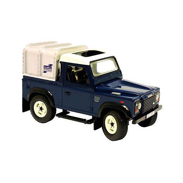 Автомобиль Land Rover Defender, свет, звук, Tomy Britains Big FarmМашинки<br>Разнообразную технику обожает множество современных мальчишек, поэтому машина Land Rover Defender, выглядящая почти как настоящая, обязательно порадует ребенка. Такие игрушки помогают детям развивать воображение, мелкую моторику, логику и творческое мышление.<br>Машина прекрасно детализирована, имеет прочный корпус, фары, вращающийся руль, кабину с сидением. Сзади расположен кузов для перевозки грузов со съемным пологом. У машины мощные прорезиненные колеса, что обеспечивает сохранность напольного покрытия. Игрушка оснащена реалистичными световыми и звуковыми эффектами, фары светятся. Двери у нее  открываются и закрываются. С такой игрушкой можно придумать множество игр!<br><br>Дополнительная информация:<br><br>цвет: разноцветный;<br>размер коробки: 30 х 17 х 17 см;<br>вес: 995 г;<br>материал: металл, резина, пластик;<br>световые и звуковые эффекты.<br><br>Автомобиль Land Rover Defender, свет, звук, Tomy Britains Big Farm можно купить в нашем магазине.<br><br>Ширина мм: 300<br>Глубина мм: 170<br>Высота мм: 165<br>Вес г: 995<br>Возраст от месяцев: 36<br>Возраст до месяцев: 2147483647<br>Пол: Мужской<br>Возраст: Детский<br>SKU: 4918495