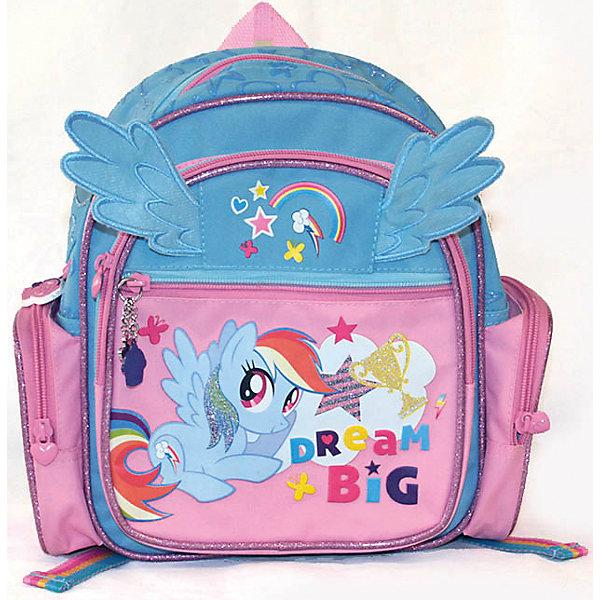 Рюкзак детский My little PonyMy little Pony<br>Героев мультфильма My Little Pony обожает большинство современных девочек. Рюкзак с их изображением и крылышками станет желанным подарком для ребенка. Это изделие отлично сшито. Материал - прочный и износостойкий, швы - качественные. <br>Лямки можно регулировать. Спинка специально сделана жесткой. В рюкзаке есть 2 больших отделения, 2 боковых кармана и плоский карман на молнии. Это вместительная и симпатичная модель, обеспечивающая ребенку комфорт.<br><br>Дополнительная информация:<br><br>цвет: розовый, голубой;<br>материал: текстиль.<br><br>Рюкзак детский от компании Gulliver можно купить в нашем магазине.<br>Ширина мм: 200; Глубина мм: 80; Высота мм: 260; Вес г: 383; Возраст от месяцев: 36; Возраст до месяцев: 2147483647; Пол: Унисекс; Возраст: Детский; SKU: 4918575;