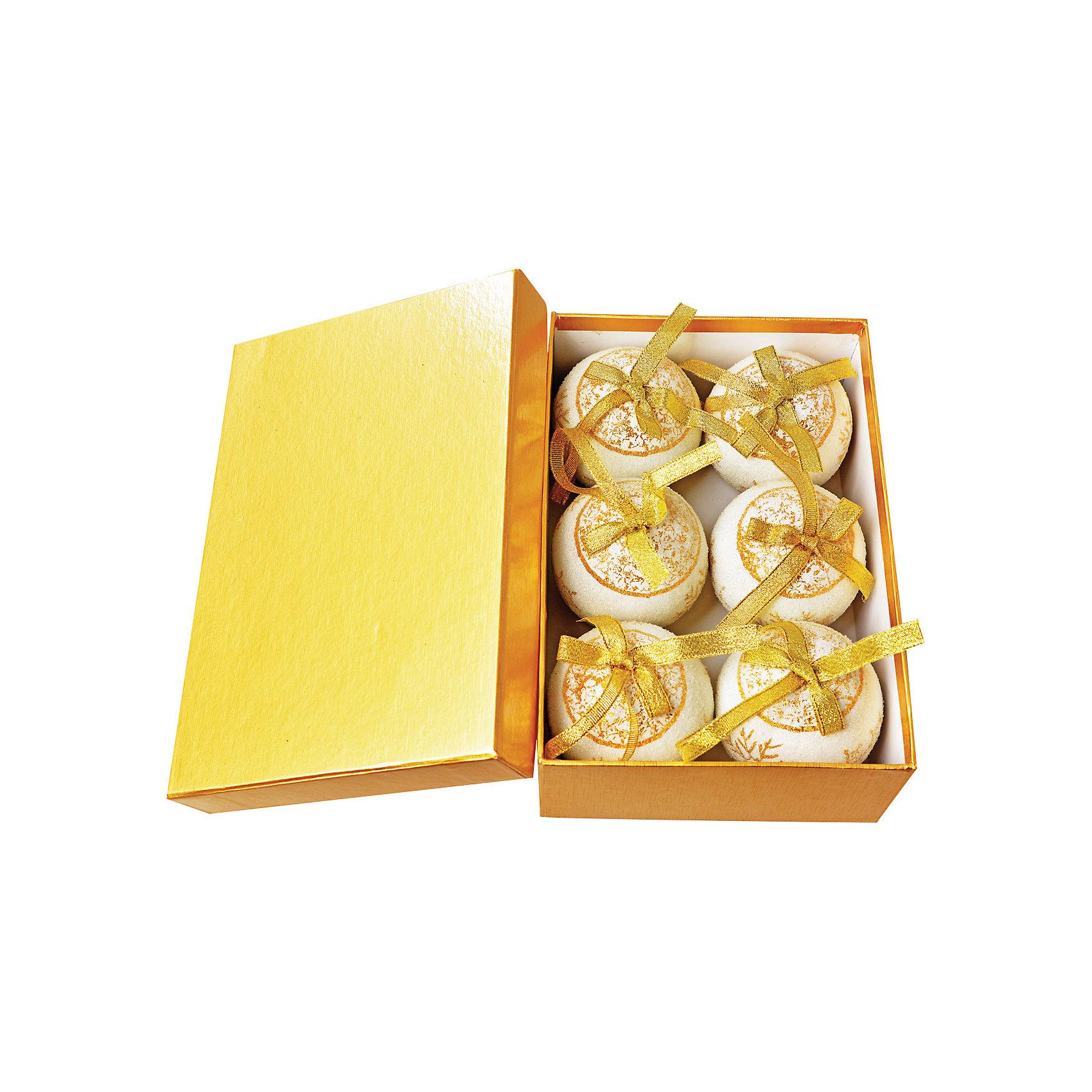 TUKZAR Набор елочных шаров, 6 шт snowlife набор из 6 шаров елочных дед мороз диам 75 мм