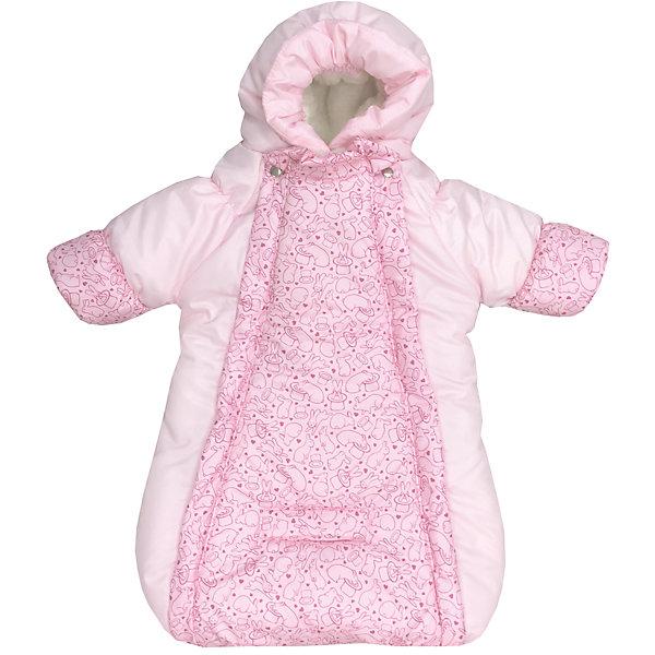 Конверт-комбинезон с ручками Зайчики, овчина, СуперМаМкет, розовыйДетские конверты<br>Характеристики:<br><br>• Вид детской одежды: верхняя<br>• Предназначение: для прогулок, на выписку<br>• Возраст: от 0 до 6 месяцев<br>• Сезон: зима<br>• Степень утепления: высокая<br>• Температурный режим: от 0? С до -30? С<br>• Пол: для девочки<br>• Тематика рисунка: животные<br>• Цвет: оттенки розового<br>• Материал: верх – мембрана (плащевка), утеплитель – 150 г. синтепона, подклад – овечий ворс на тканевой основе<br>• Форма конверта: комбинезон-конверт<br>• По бокам имеются застежки-молнии<br>• Застежка на кнопках у горловины<br>• На комбинезоне предусмотрены прорези как для 3-х точечных, так и для 5-ти точечных ремней безопасности<br>• У рукавов предусмотрены манжеты-отвороты<br>• Капюшон с регулировкой по овалу лица<br>• Размеры (Ш*Д): 45*75 см, длина от плеча до низа 56 см<br>• Вес: 800 г <br>• Особенности ухода: допускается деликатная стирка без использования красящих и отбеливающих средств<br><br>Комбинезон-конверт от СуперМаМкет выполнен в форме расширенного книзу кокона, на рукавах предусмотрены отвороты для защиты от холода детских ручек, капюшон имеет регулировку по овалу лица, а у горловины имеются застежки на кнопках. Верх изделия выполнен из плащевки, которая отличается повышенными качествами износоустойчивости и обладает повышенными защитными свойствами от влаги и ветра. Изделие имеет двойное утепление: из синтепона (150 г.) и подклада, выполненного из специально обработанного овечьего ворса, что обеспечивает повышенные теплоизоляционные свойства и придает изделию дополнительную мягкость. Конверт-комбинезон с ручками Зайчики, овчина, СуперМаМкет, розовый оснащен боковыми застежками-молниями, которые расстегиваются до самого низа, что обеспечивает удобство в одевании ребенка. <br><br>Конверт-комбинезон с ручками Зайчики, овчина, СуперМаМкет, розовый можно купить в нашем интернет-магазине.<br><br>Ширина мм: 750<br>Глубина мм: 450<br>Высота мм: 100<br>Вес г: 600<br>Во