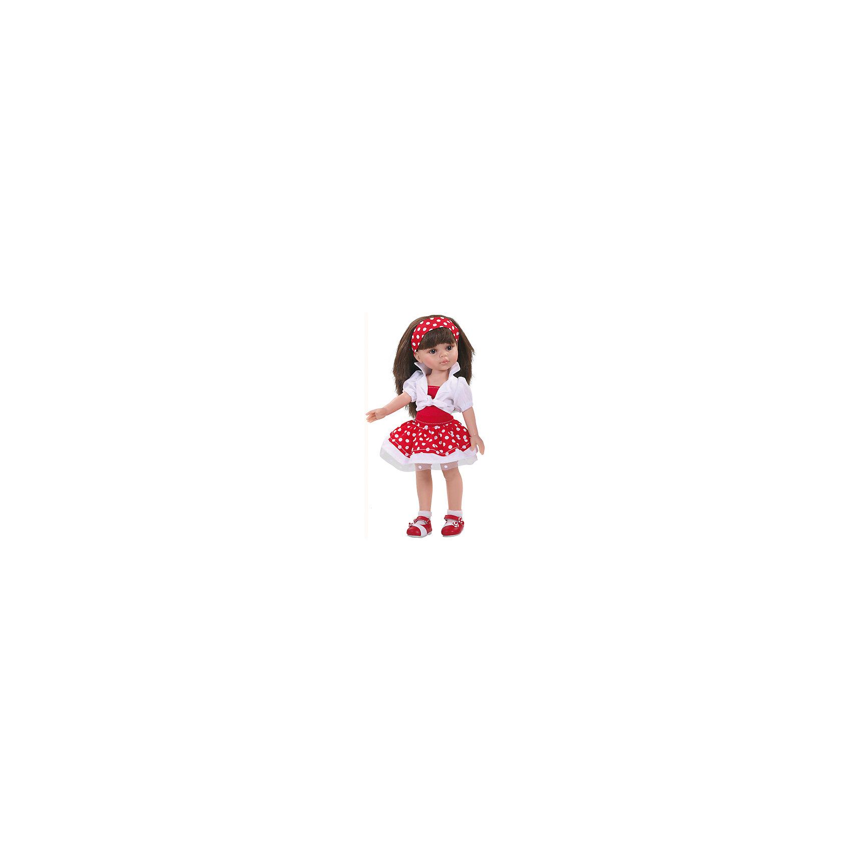 Кукла Карол, 32смКлассические куклы<br>Игра в куклы - это не только весело, но и помогает развить ключевые социальные навыки! Кукла Карол с длинными волосами, которые можно расчесывать, приведет в восторг любую девочку! Она сделана из высококачественного винила, одета в модный наряд. Её конечности подвижны,<br>а губы, щечки, веснушки и волосы – полностью ручная работа. Кукла приятно пахнет ванилью.<br>Эта кукла обязательно порадует ребенка! Он станет отличным подарком и поможет девочке развивать свою фантазию и мелкую моторику. Игрушка сделана из качественных и безопасных для ребенка материалов.<br><br>Дополнительная информация:<br><br>цвет: разноцветный;<br>высота: 32 см;<br>вес: 667 г;<br>комплектация: кукла, одежда, аксессуары;<br>материал: винил.<br><br>Куклу Карол, 32 см можно купить в нашем магазине.<br><br>Ширина мм: 11<br>Глубина мм: 23<br>Высота мм: 41<br>Вес г: 667<br>Возраст от месяцев: 36<br>Возраст до месяцев: 144<br>Пол: Женский<br>Возраст: Детский<br>SKU: 4918671