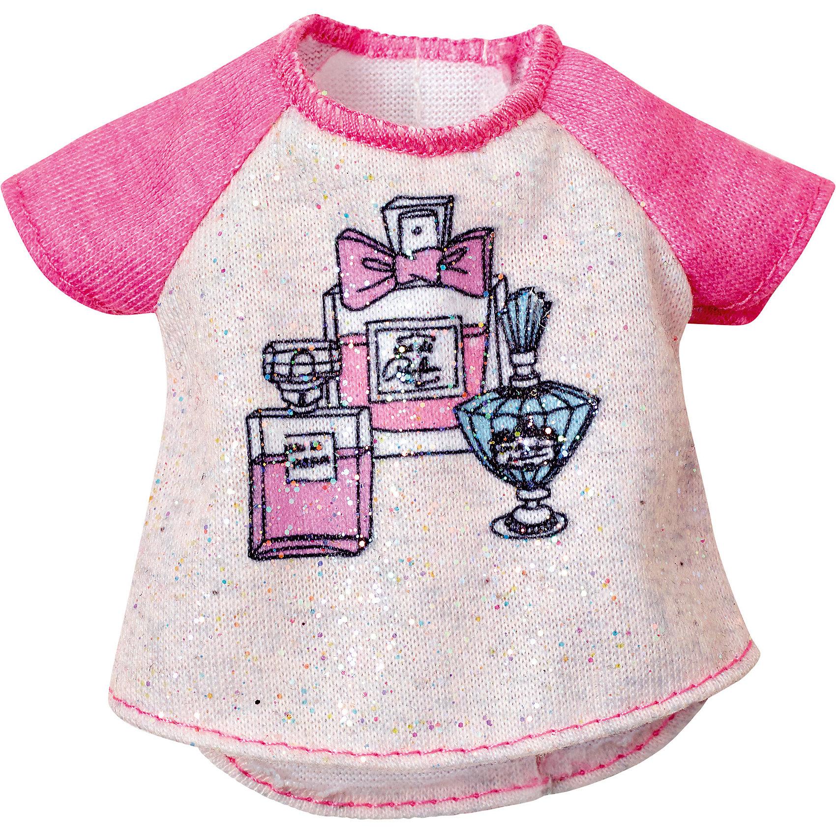 Набор одежды, BarbieНабор одежды, Barbie – это изящные комплекты одежды для любимой куклы Барби.<br>Когда возможности безграничны, гардероб должен быть таким же! В этих ультрамодных нарядах кукла Барби (продается отдельно) будет неотразима с утра до вечера. У одежды простой, но элегантный покрой, современная расцветка, рисунок и детали. Она позволит создать множество ярких и разнообразных образов (предметы продаются по отдельности). Если собрать всю коллекцию одежды для куклы Барби, можно будет подобрать наряды для самых разных сюжетов!<br><br>Дополнительная информация:<br><br>- В наборе: один предмет одежды<br>- Кукла продается отдельно<br>- Одежда подходит для большинства кукол Барби<br>- Материал: текстиль<br><br>Набор одежды, Barbie можно купить в нашем интернет-магазине.<br><br>Ширина мм: 150<br>Глубина мм: 75<br>Высота мм: 5<br>Вес г: 290<br>Возраст от месяцев: 36<br>Возраст до месяцев: 144<br>Пол: Женский<br>Возраст: Детский<br>SKU: 4918752