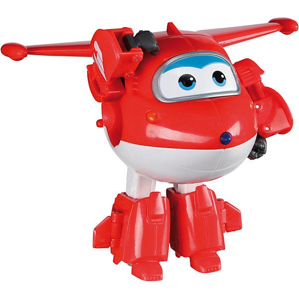 Трансформер Джетт, Супер КрыльяФигурки из мультфильмов<br>Какой ребенок не любит самолеты!? Сделать игру ярче и увлекательнее поможет герой популярного мультфильма Супер Крылья, любимого детьми. Игрушка всего за несколько мгновений трансформируется из самолета в робота. К нему можно также фигурки-трансформеры заказать друзей из этого мультфильма! Компактный размер позволит ребенку брать игрушку с собой в гости или на прогулку.                <br>Этот трансформер обязательно порадует ребенка! Игры с ним также помогают детям развивать воображение, логику, мелкую моторику и творческое мышление. Самолет сделан из качественных и безопасных для ребенка материалов.<br><br>Дополнительная информация:<br><br>цвет: разноцветный;<br>размер упаковки: 13 х 16 х 7 см;<br>вес: 400 г;<br>материал: пластик.<br><br>Игрушку Трансформер Джетт можно купить в нашем магазине.<br>Ширина мм: 130; Глубина мм: 160; Высота мм: 70; Вес г: 400; Возраст от месяцев: 36; Возраст до месяцев: 2147483647; Пол: Мужской; Возраст: Детский; SKU: 4918778;