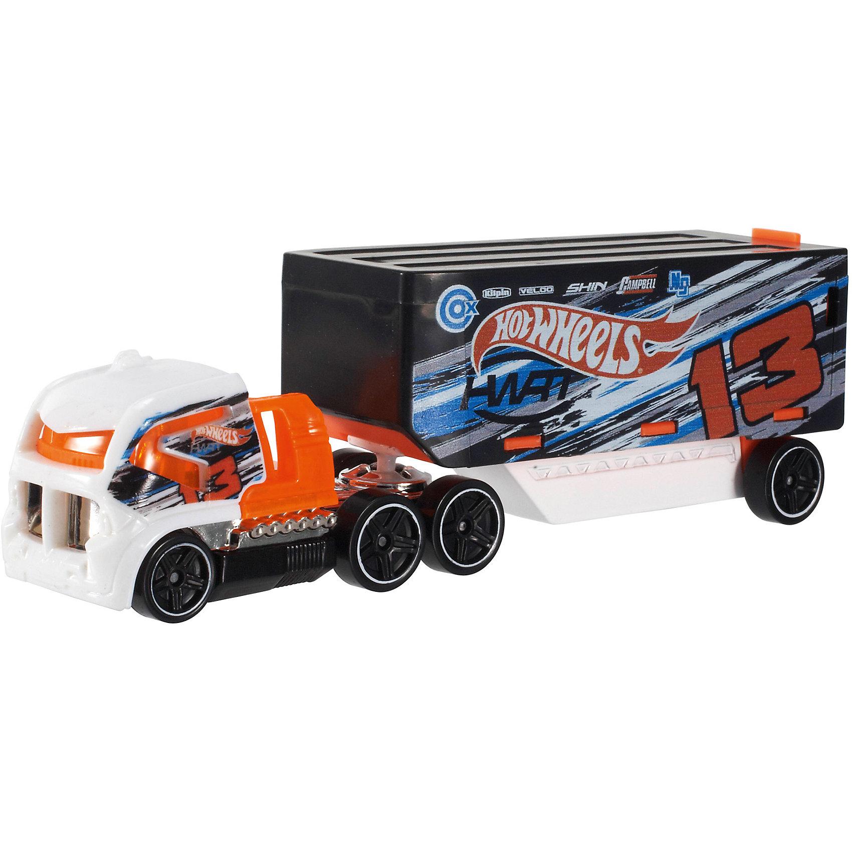 Трейлер базовой коллекции, Hot Wheels«Трейлер» базовой комплектации, Hot Wheels (Хот Вилс) – потрясающе реалистичный грузовик-трейлер, который придется по душе любому мальчишке.  Трейлер выполнен из металла, а значит сможет выдержать любые испытания, которые приготовит для него Ваш ребенок. В трейлерах-грузовиках Hot Wheels (Хот Вилс) есть возможность менять прицепы, что позволяет каждый раз создавать новые комбинации.  <br><br>Дополнительная информация: <br><br>- Материал: пластик <br>- Длина: около 28 см  <br><br>«Трейлер» базовой комплектации, Hot Wheels (Хот Вилс) – прекрасный подарок для Вашего ребенка. Ему непременно захочется собрать всю коллекцию и каждый раз создавать новый вид трейлеров.  <br><br>«Трейлер» базовой комплектации, Hot Wheels (Хот Вилс) можно купить в нашем магазине.<br><br>Ширина мм: 40<br>Глубина мм: 130<br>Высота мм: 110<br>Вес г: 126<br>Возраст от месяцев: 48<br>Возраст до месяцев: 96<br>Пол: Мужской<br>Возраст: Детский<br>SKU: 4918791