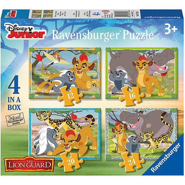 Набор из 4-х пазлов  Хранитель Лев, 12*16*20*24 деталей, RavensburgerПазлы для малышей<br>Набор из 4-х пазлов  Хранитель Лев, 12*16*20*24 деталей, Ravensburger – отличный вклад в развитие вашего малыша.<br>Состоит набор из 4 пазлов, каждый из которых – отдельная история из любимого мультфильма. Все пазлы разные по сложности: 12, 16, 20 и 24 детали. Сделан пазл из качественного картона. Каждый элемент отлично соединяется с другим, образуя ровное полотно с картинкой.<br><br>Дополнительная информация:<br><br>- размер упаковки – 24*20*5 см<br>- материал: картон, бумага<br>- страна: Чехия<br><br>Набор из 4-х пазлов  Хранитель Лев, 12*16*20*24 деталей, Ravensburger можно купить в нашем интернет магазине.<br>Ширина мм: 237; Глубина мм: 203; Высота мм: 50; Вес г: 347; Возраст от месяцев: 36; Возраст до месяцев: 60; Пол: Унисекс; Возраст: Детский; SKU: 4919197;