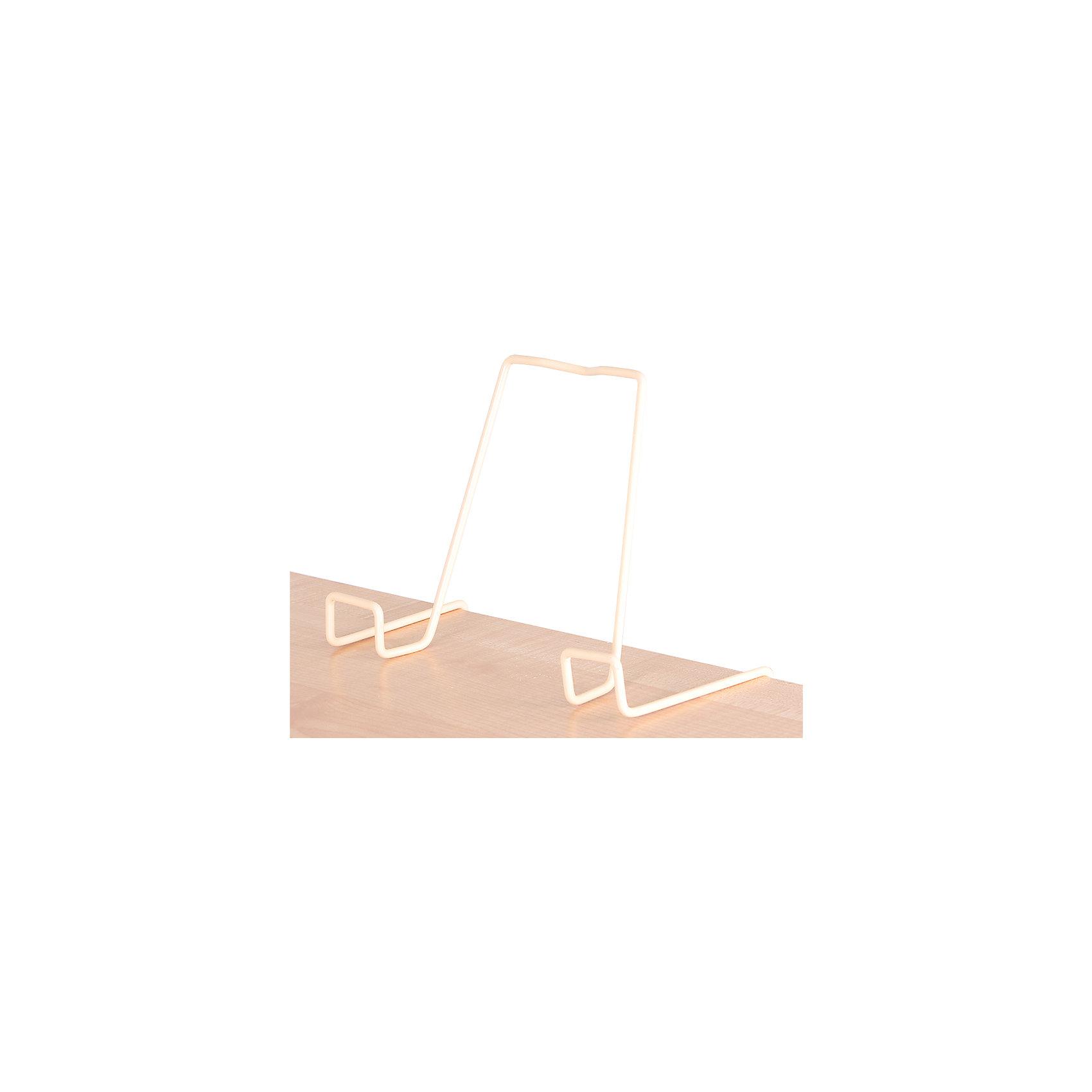 Подставка для книг металлическая ПДК.02, Дэми, бежевыйМебель<br>Подставка для книг металлическая ПДК.02, Дэми, бежевый – необходимая вещь для каждого ребенка.<br>Данная модель представляет собой привычную металлическую подставку, знакомую всем с детства. Однако ее отличие в том, что подставка надежно крепится к столу Дэми. Это позволяет ребенку не волноваться о том, что она может упасть. У подставки удобный угол наклона, но при желании ее можно отрегулировать. <br><br>Дополнительная информация: <br><br>Размер: 330x202x55 мм<br>Вес: 100 гр<br>Материал: металл<br>Цвет: бежевый<br><br>Подставку для книг металлическую ПДК.02, Дэми, бежевую можно купить в нашем интернет магазине.<br><br>Ширина мм: 500<br>Глубина мм: 390<br>Высота мм: 30<br>Вес г: 100<br>Возраст от месяцев: 48<br>Возраст до месяцев: 1188<br>Пол: Унисекс<br>Возраст: Детский<br>SKU: 4919238