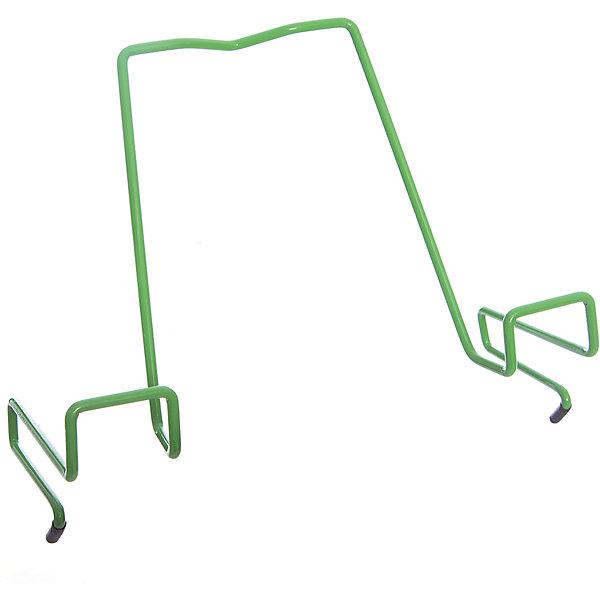 Подставка для книг металлическая ПДК.02, Дэми, зеленыйАксессуары для парт<br>Подставка для книг металлическая ПДК.02, Дэми, зеленый – необходимая вещь для каждого ребенка.<br>Данная модель представляет собой привычную металлическую подставку, знакомую всем с детства. Однако ее отличие в том, что подставка надежно крепится к столу Дэми. Это позволяет ребенку не волноваться о том, что она может упасть. У подставки удобный угол наклона, но при желании ее можно отрегулировать. <br><br>Дополнительная информация: <br><br>Размер: 330x202x55 мм<br>Вес: 100 гр<br>Материал: металл<br>Цвет: зеленый<br><br>Подставку для книг металлическую ПДК.02, Дэми, зеленую можно купить в нашем интернет магазине.<br><br>Ширина мм: 500<br>Глубина мм: 390<br>Высота мм: 30<br>Вес г: 100<br>Возраст от месяцев: 48<br>Возраст до месяцев: 216<br>Пол: Унисекс<br>Возраст: Детский<br>SKU: 4919240