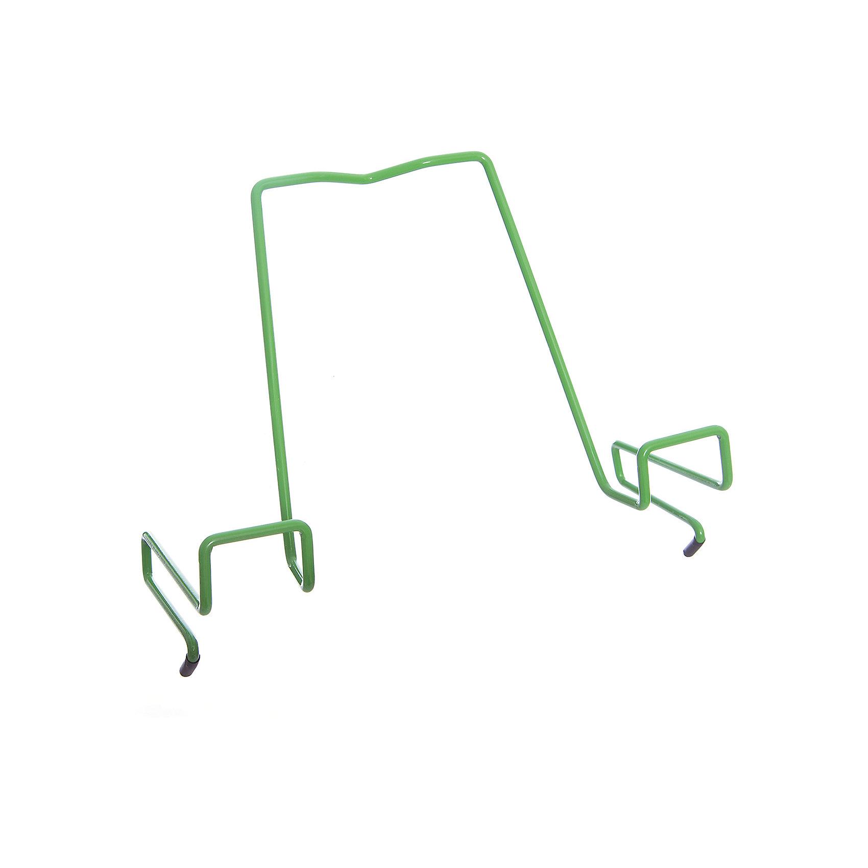 Подставка для книг металлическая ПДК.02, Дэми, зеленыйПодставка для книг металлическая ПДК.02, Дэми, зеленый – необходимая вещь для каждого ребенка.<br>Данная модель представляет собой привычную металлическую подставку, знакомую всем с детства. Однако ее отличие в том, что подставка надежно крепится к столу Дэми. Это позволяет ребенку не волноваться о том, что она может упасть. У подставки удобный угол наклона, но при желании ее можно отрегулировать. <br><br>Дополнительная информация: <br><br>Размер: 330x202x55 мм<br>Вес: 100 гр<br>Материал: металл<br>Цвет: зеленый<br><br>Подставку для книг металлическую ПДК.02, Дэми, зеленую можно купить в нашем интернет магазине.<br><br>Ширина мм: 500<br>Глубина мм: 390<br>Высота мм: 30<br>Вес г: 100<br>Возраст от месяцев: 48<br>Возраст до месяцев: 216<br>Пол: Унисекс<br>Возраст: Детский<br>SKU: 4919240